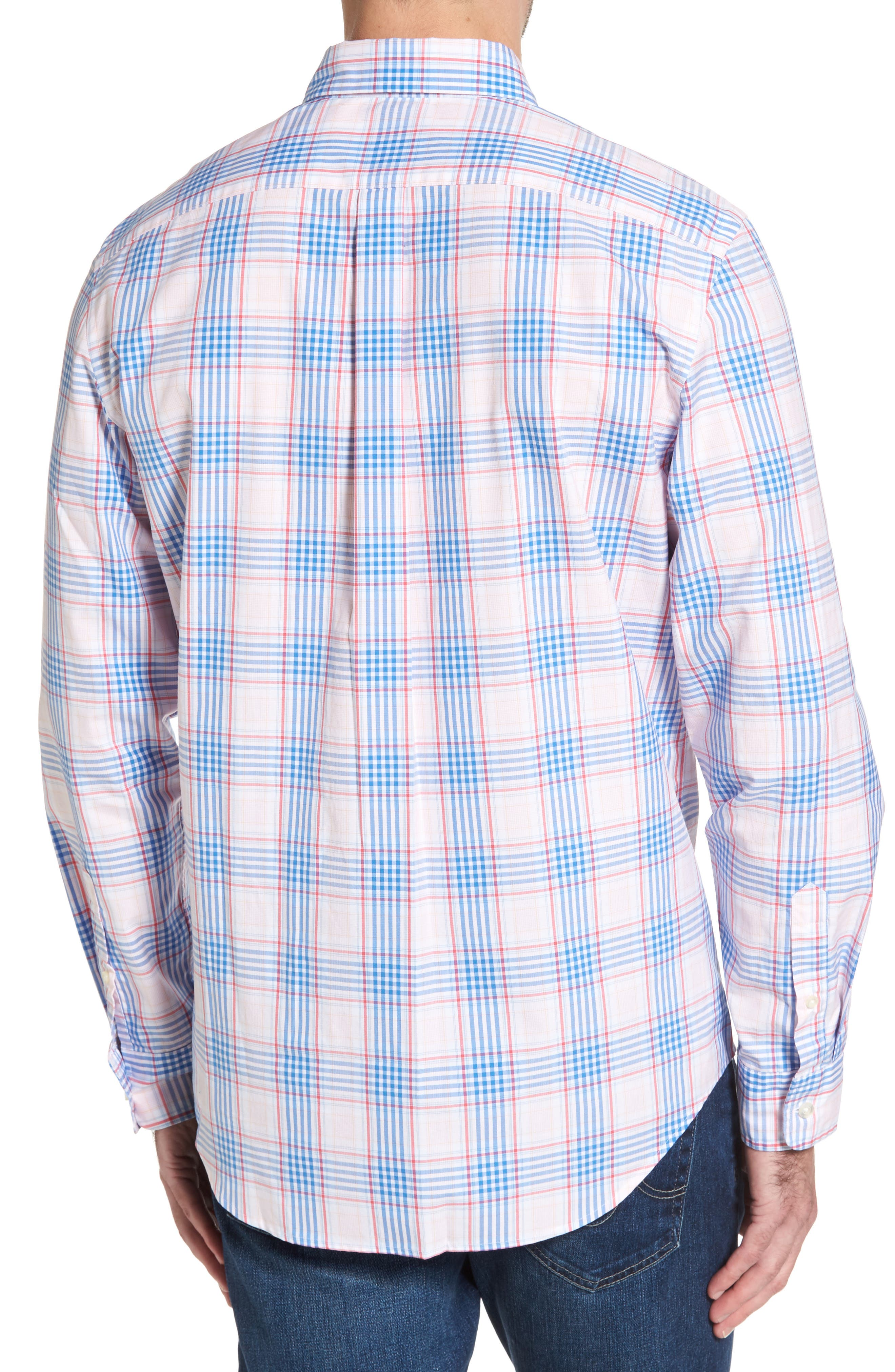Pelican Plaid Tucker Classic Fit Sport Shirt,                             Alternate thumbnail 2, color,                             Rose Pink