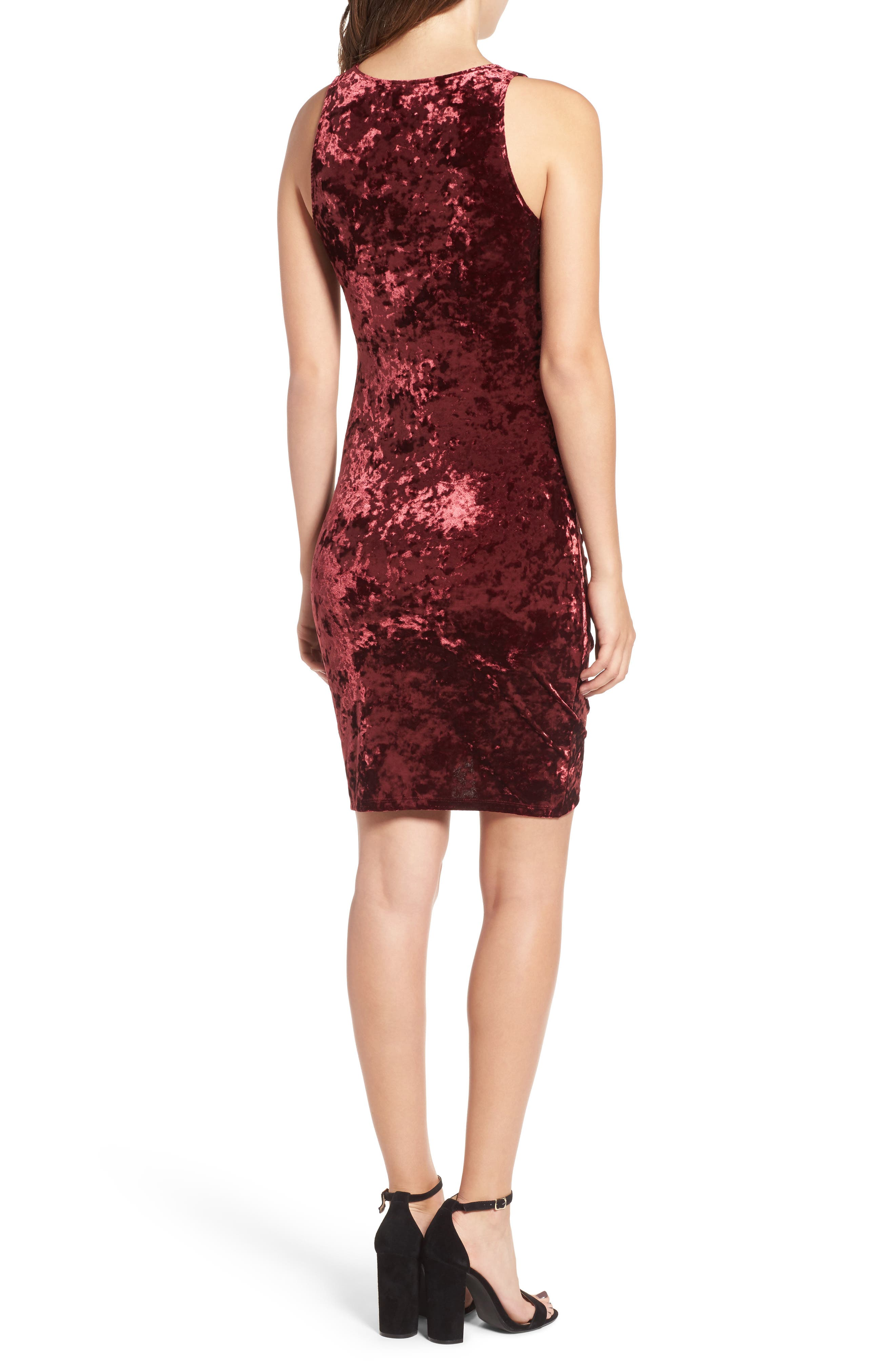 Alternate Image 2  - Leith Ruched Velour Sheath Dress