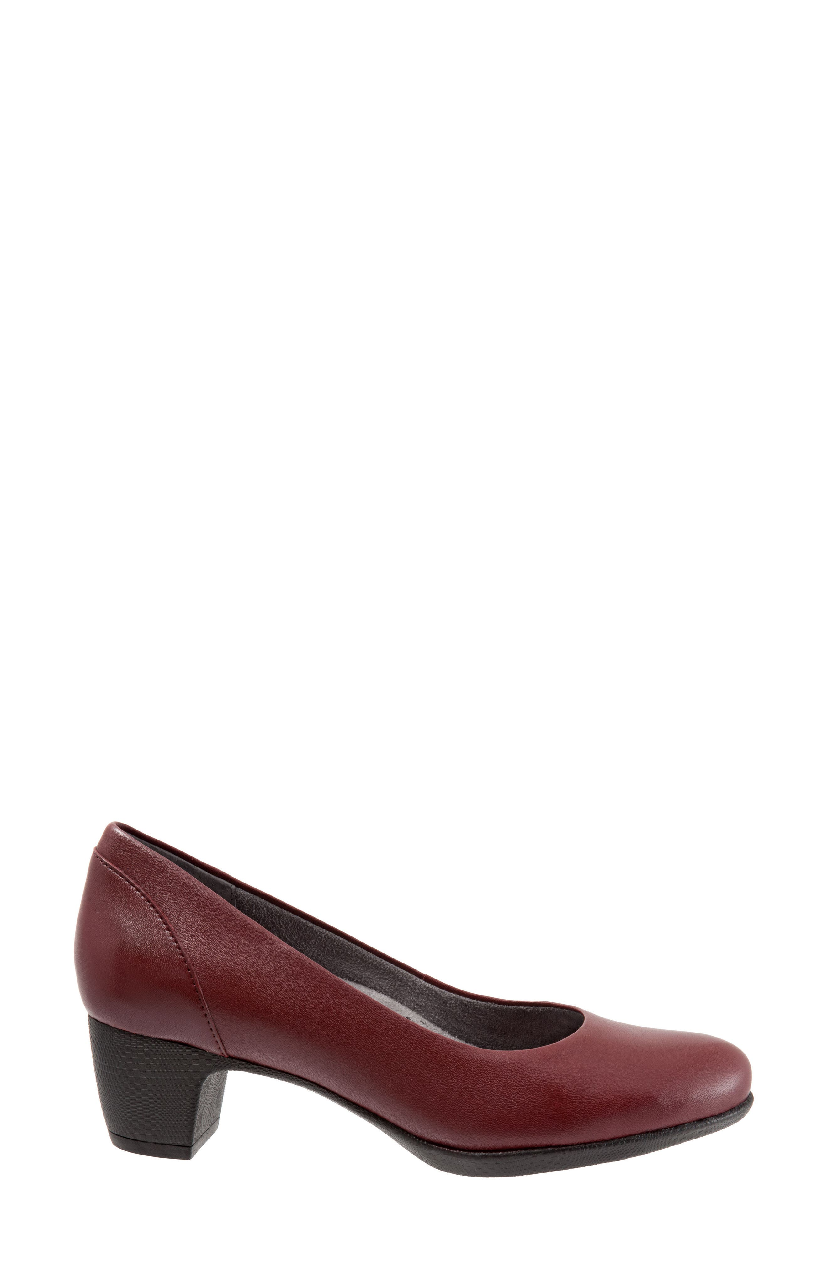 Imperial II Pump,                             Alternate thumbnail 4, color,                             Dark Red Leather