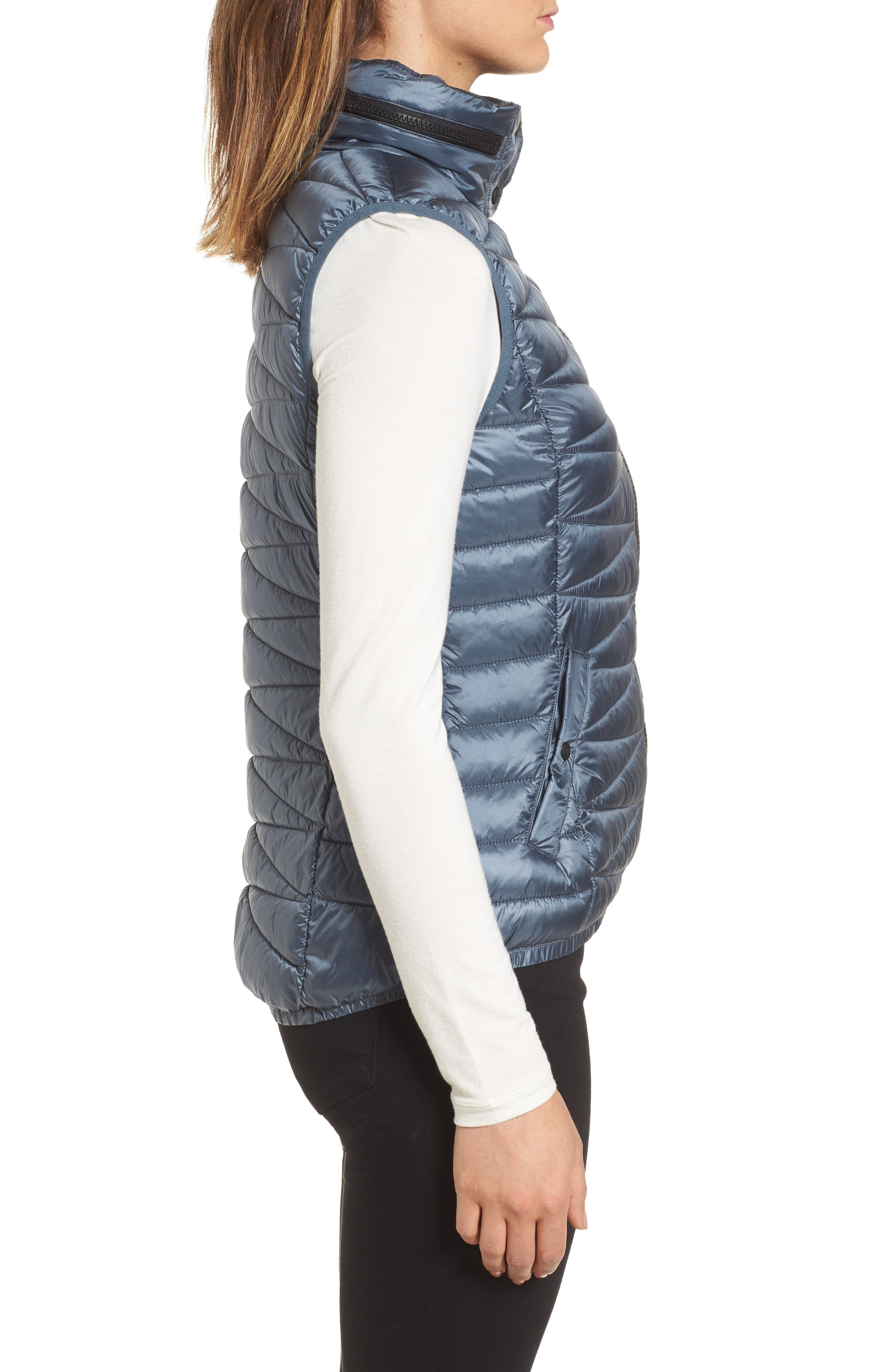 Packable Vest,                             Alternate thumbnail 3, color,                             Ice Cove Indigo