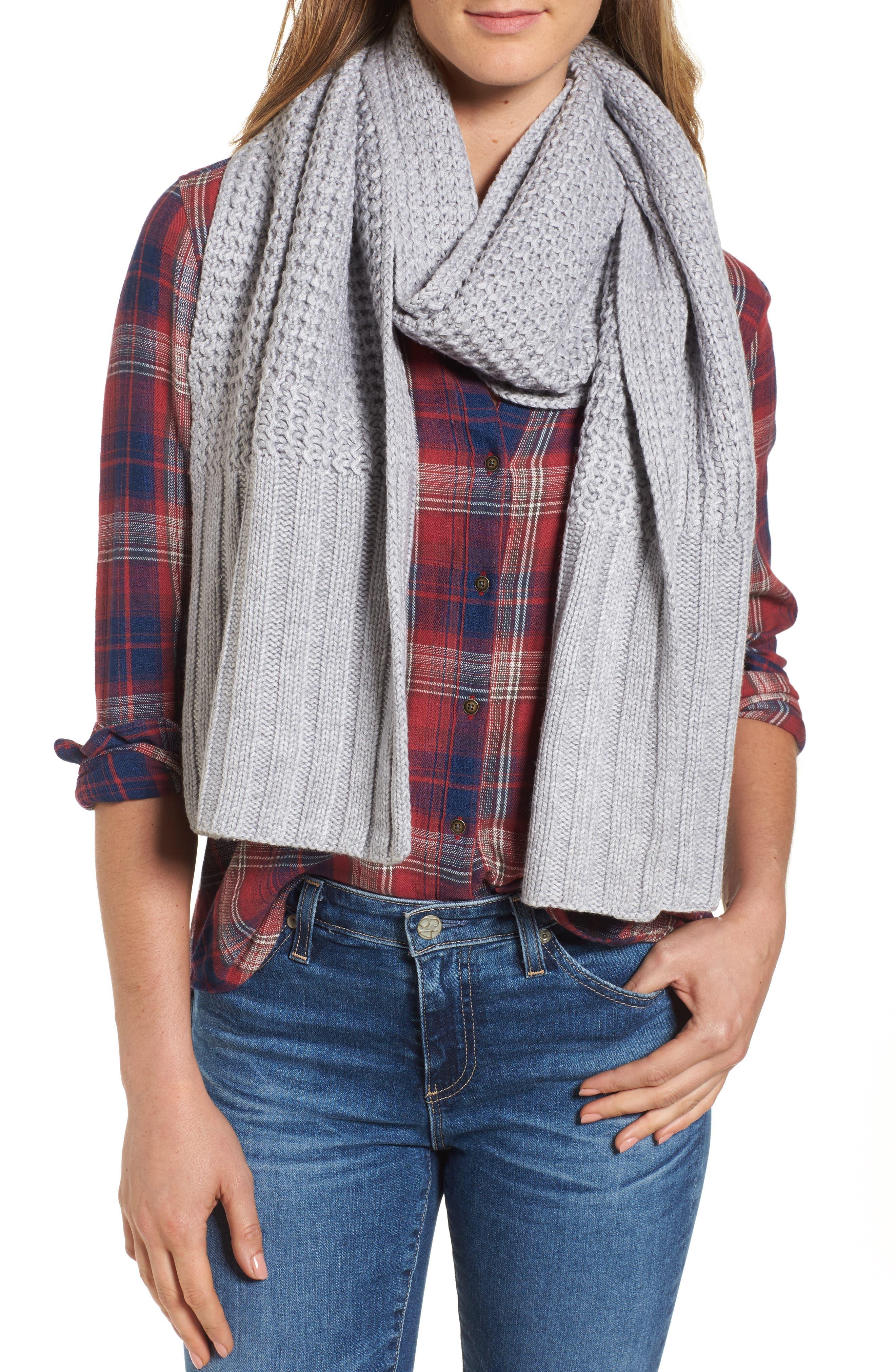 Alternate Image 1 Selected - UGG® Textured Wool Blend Cardi Scarf