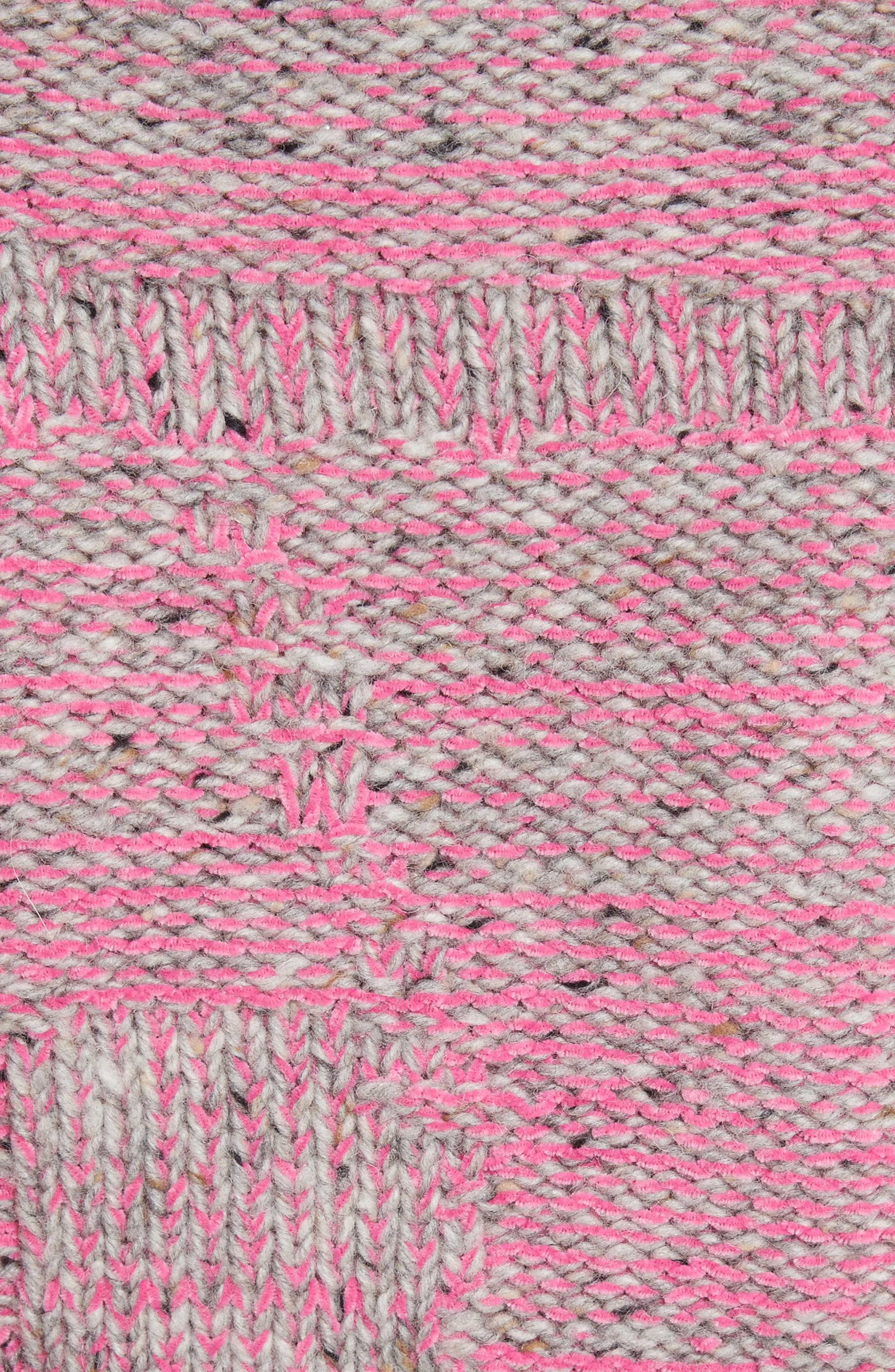 Wool Blend Funnel Neck Sweater,                             Alternate thumbnail 5, color,                             Candy Pink