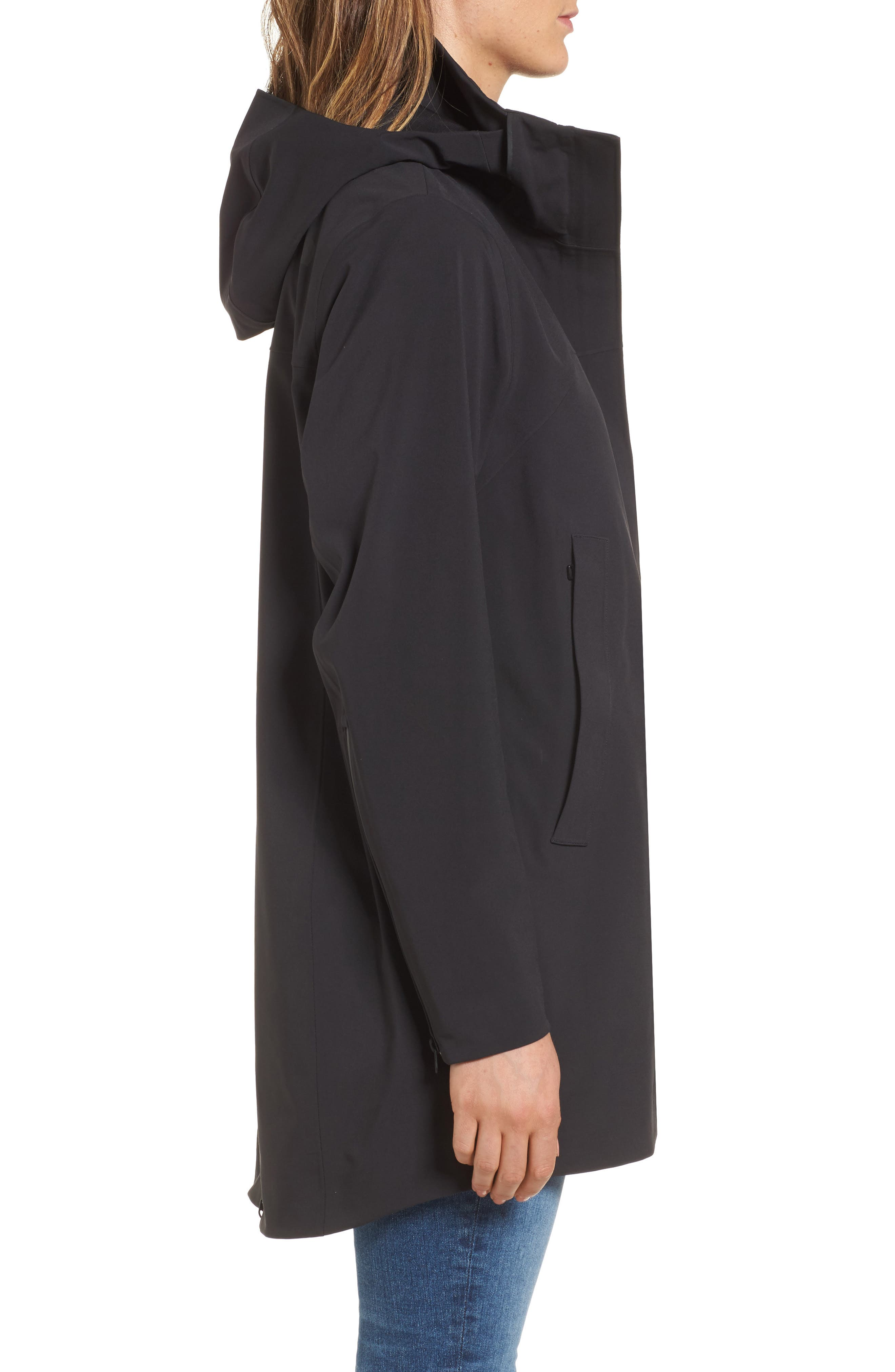 Apex Flex Gore-Tex<sup>®</sup> Trench Coat,                             Alternate thumbnail 3, color,                             Black