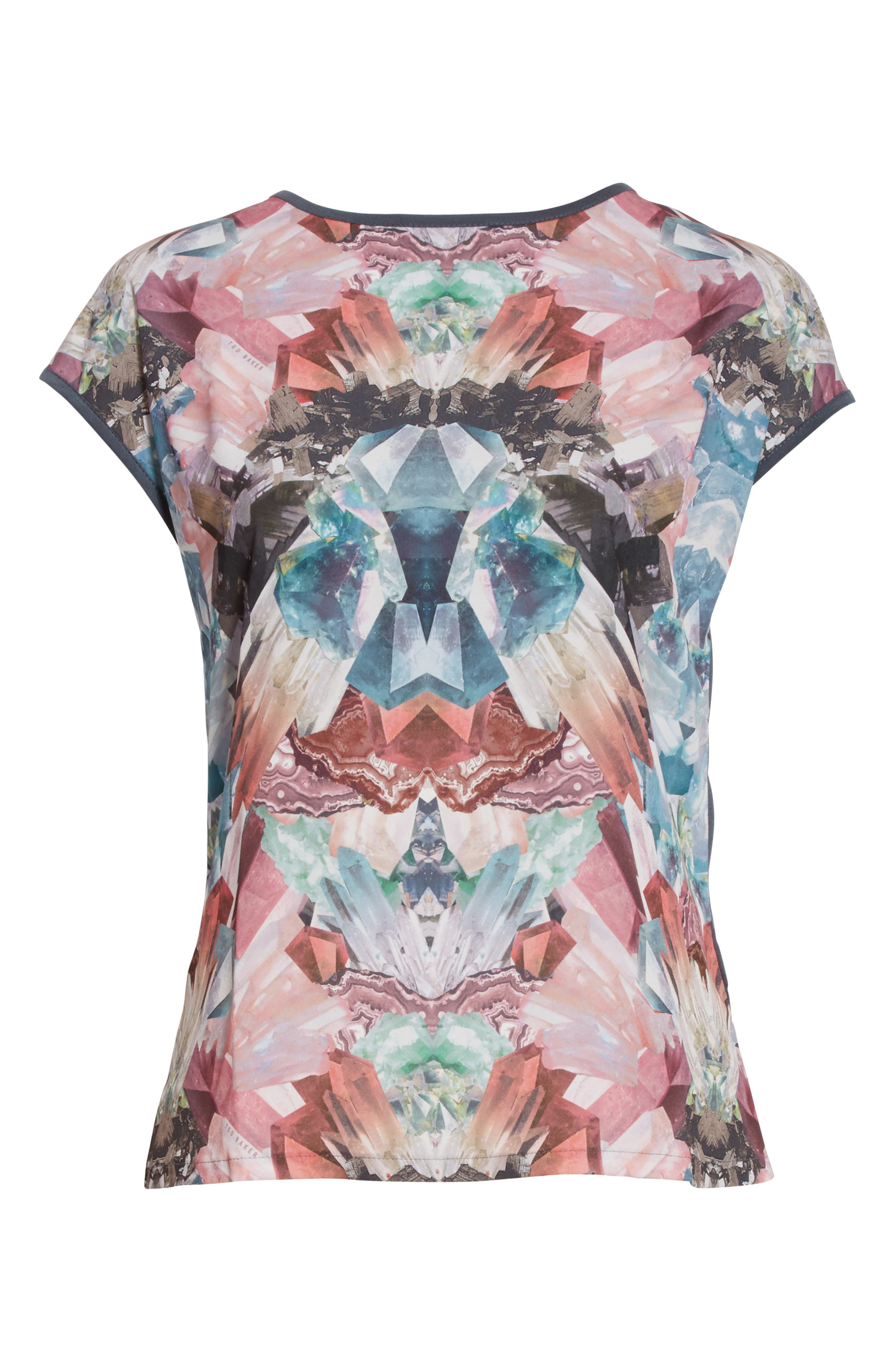 Alternate Image 6  - Ted Baker London Mirrored Minerals Mixed Media Tee