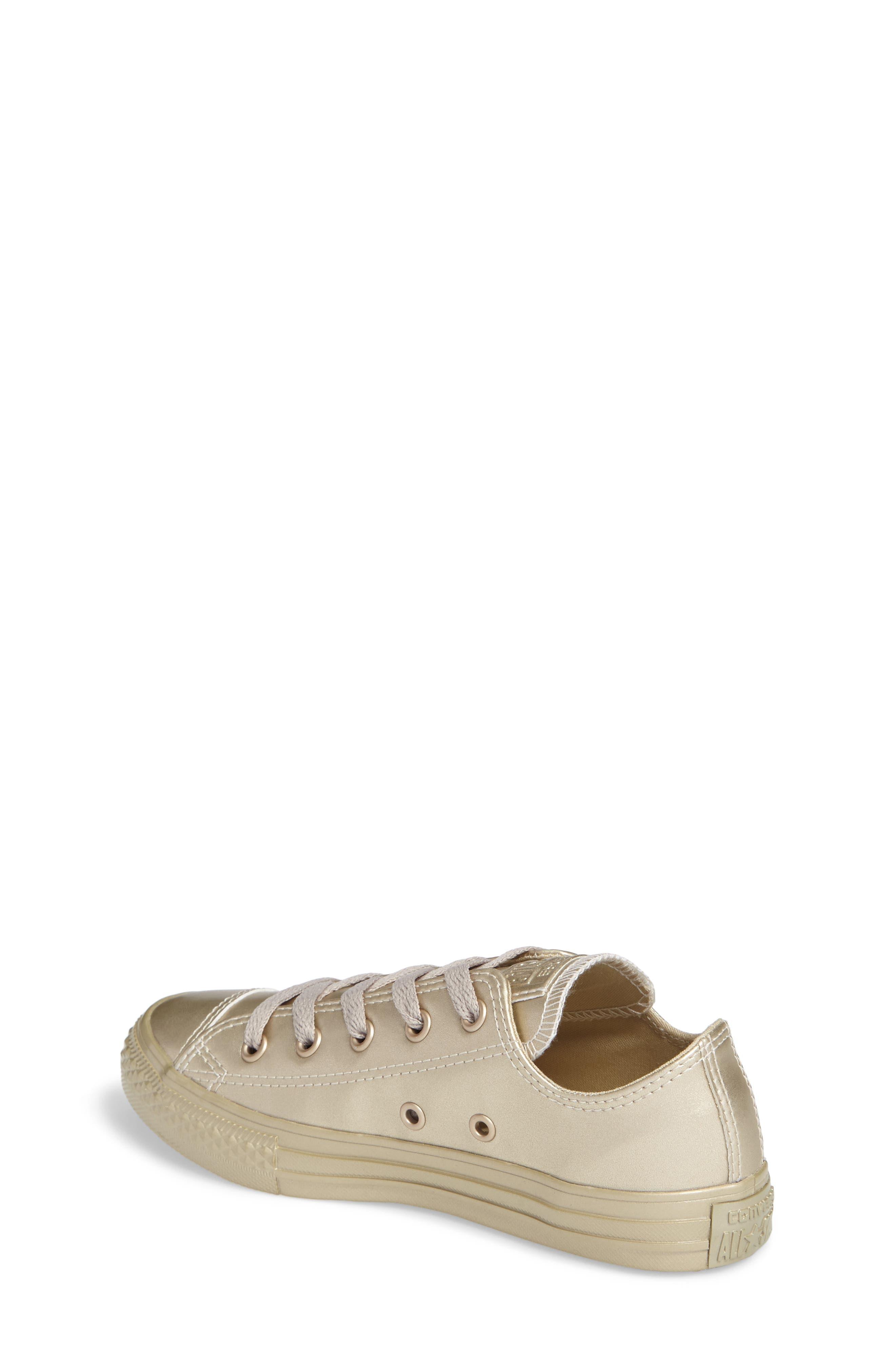 Alternate Image 2  - Converse Chuck Taylor® All Star® Mono Metallic Low Top Sneaker (Toddler & Little Kid)