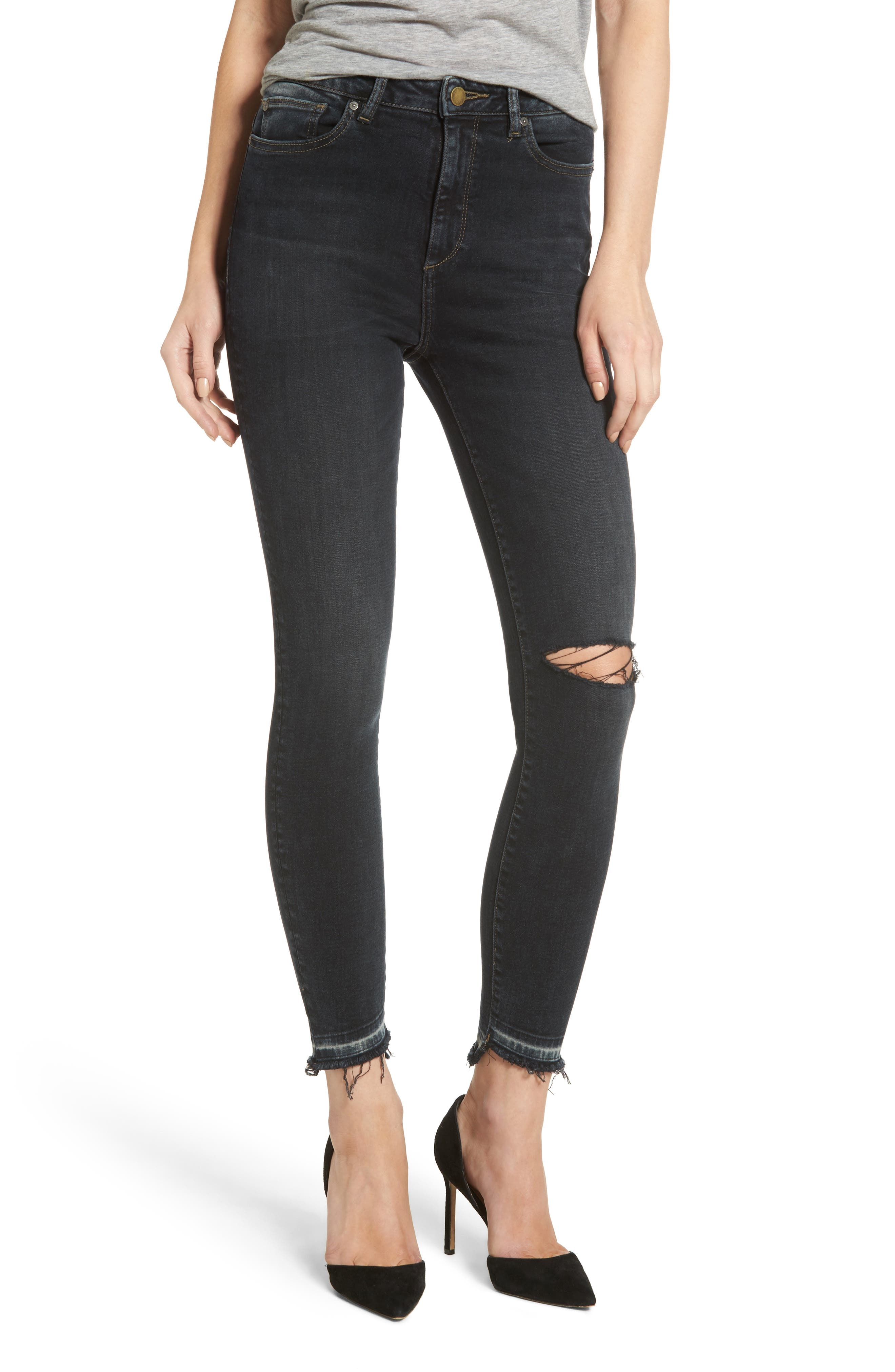 DL1961 Chrissy High Waist Ankle Skinny Jeans (Grizzly)