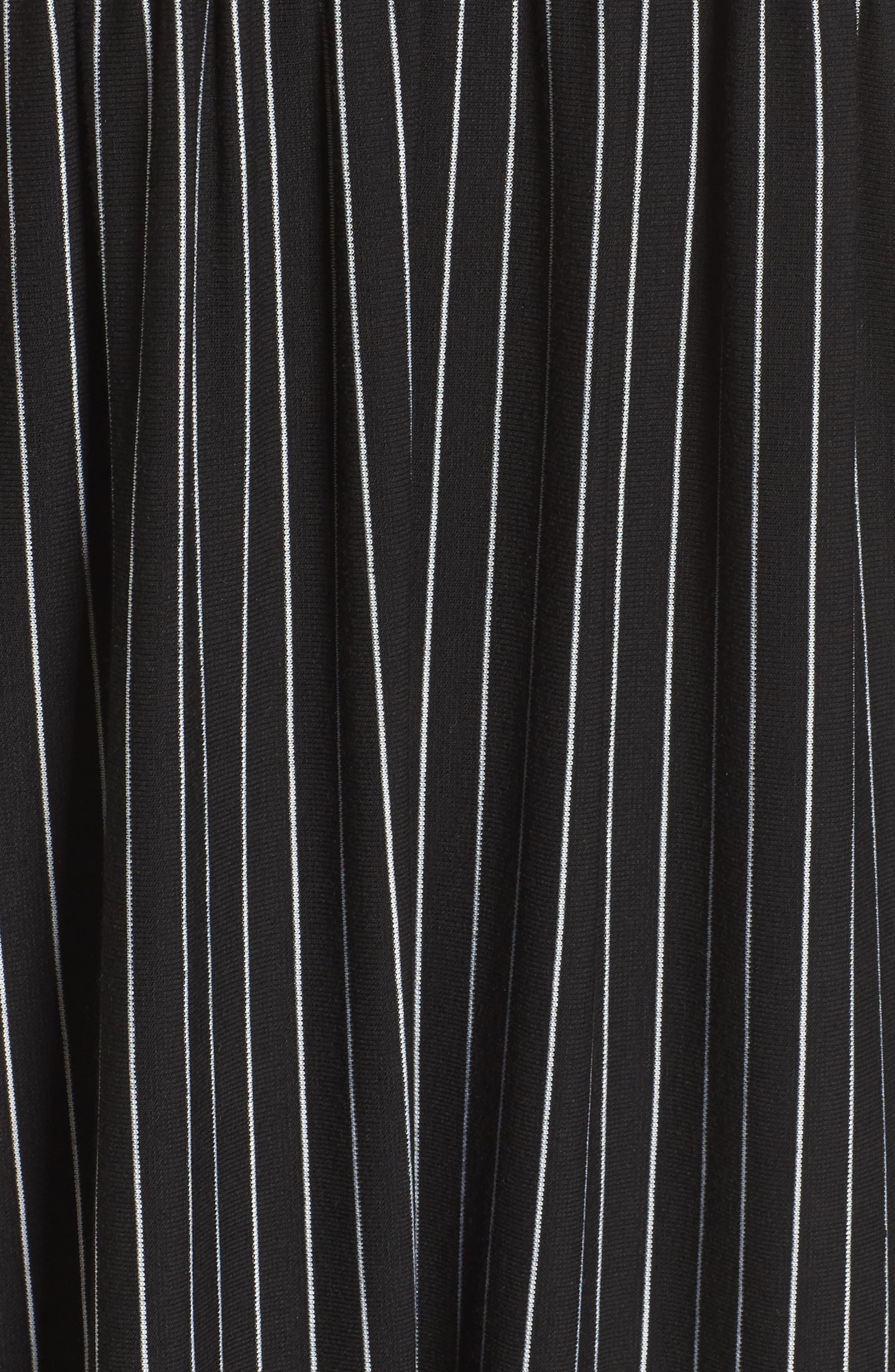 Embroidered Babydoll Dress,                             Alternate thumbnail 5, color,                             Black