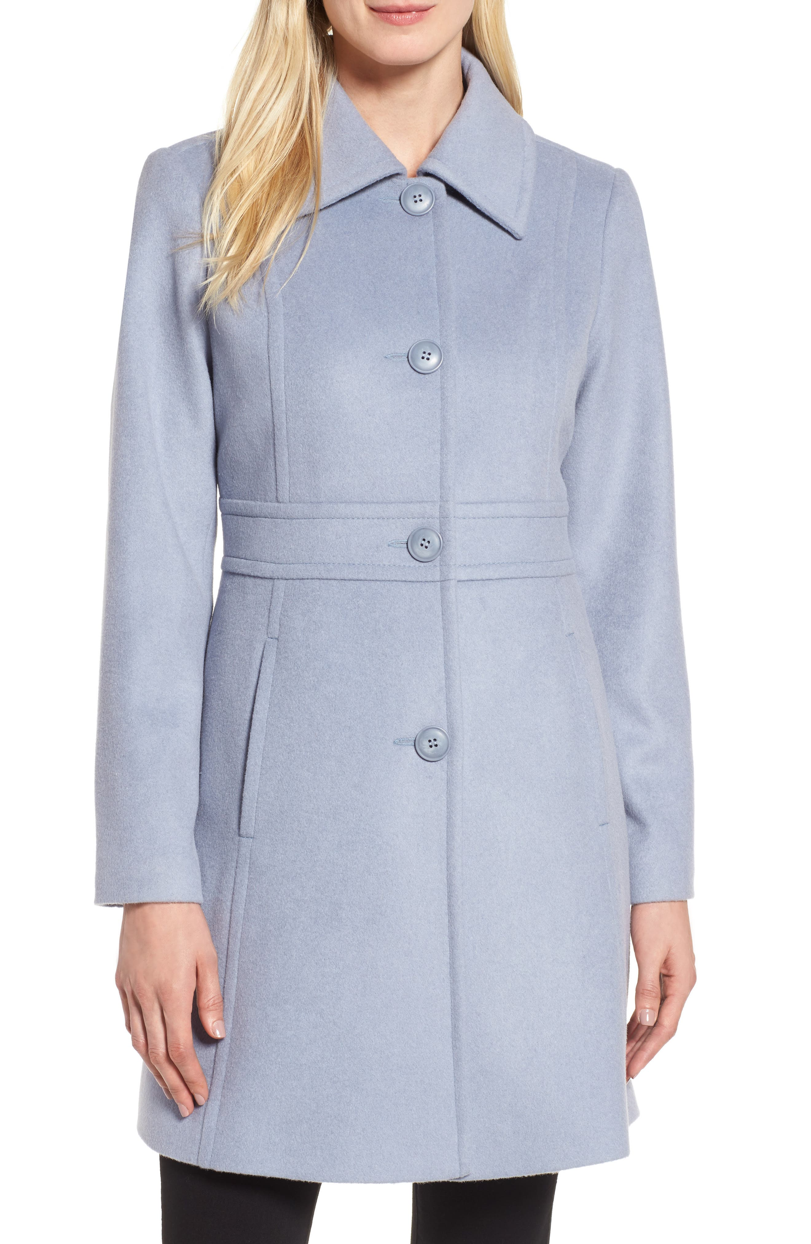 Alternate Image 1 Selected - Kristen Blake Wool Blend Walking Coat (Regular & Petite)