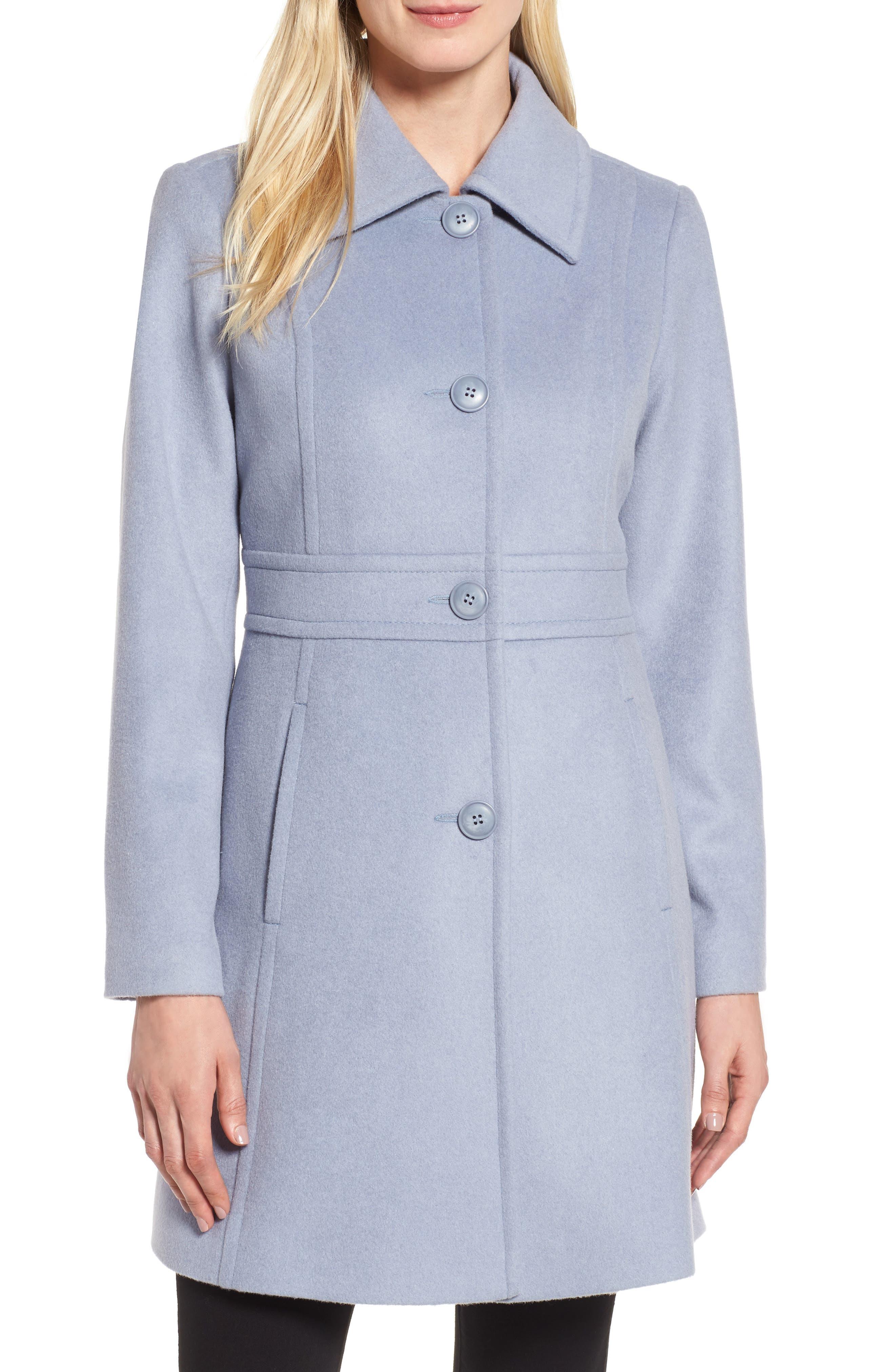 Kristen Blake Wool Blend Walking Coat (Regular & Petite)