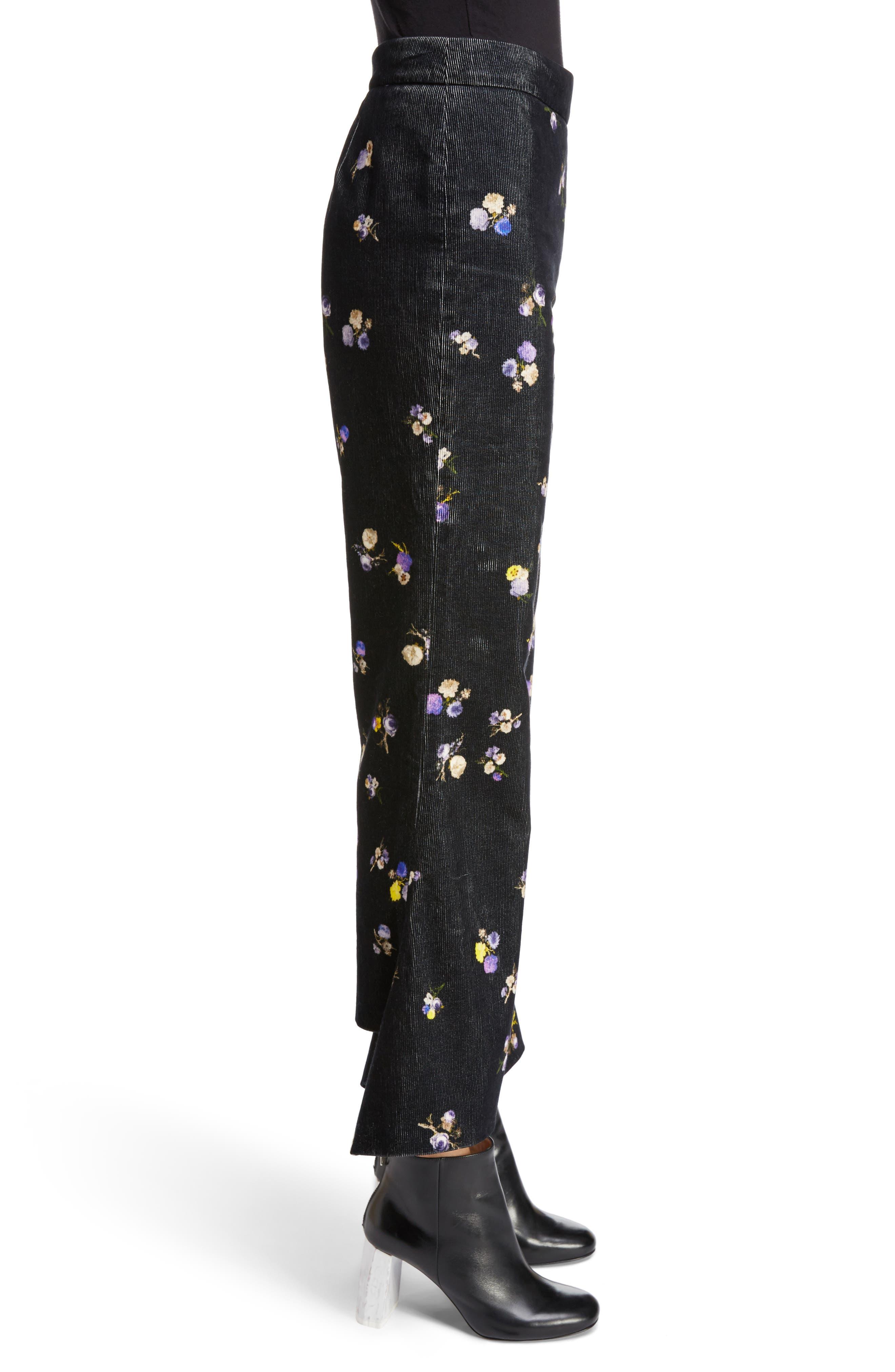 Alternate Image 3  - ACNE Studios Tyme Floral Corduroy Wide Leg Pants