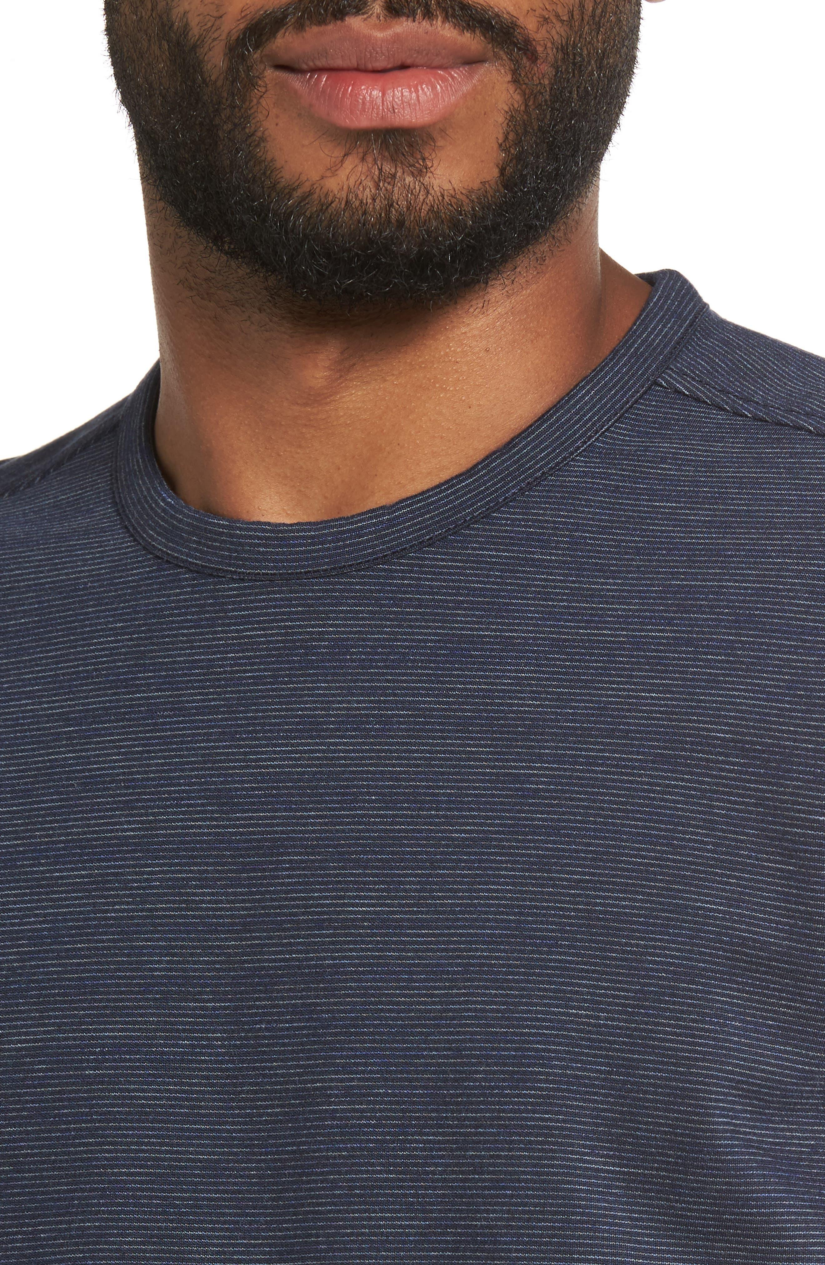 Space Dye Stripe Sweatshirt,                             Alternate thumbnail 4, color,                             Navy Night Spacedye