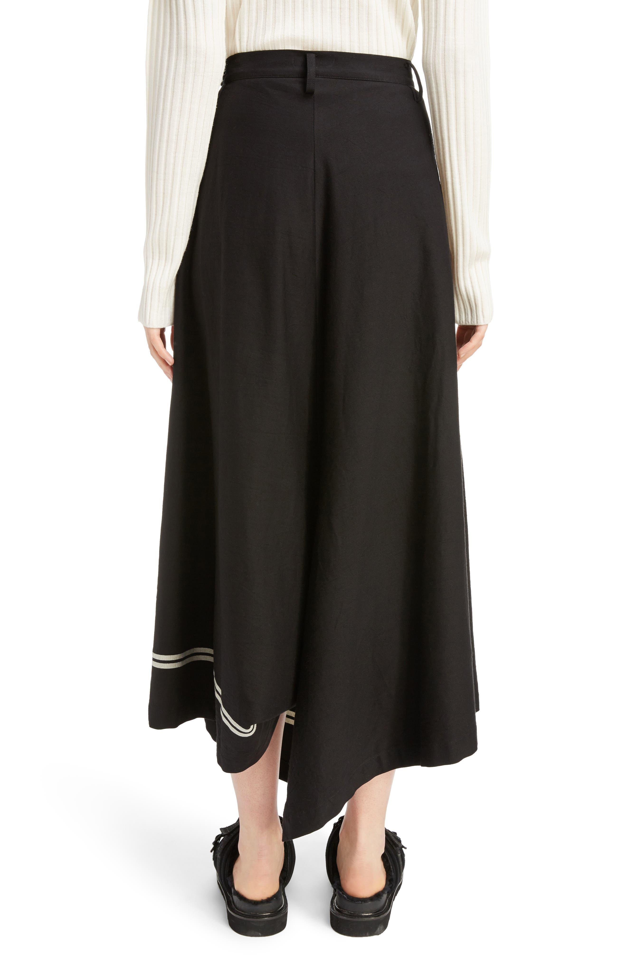Dart Front Skirt,                             Alternate thumbnail 2, color,                             Navy