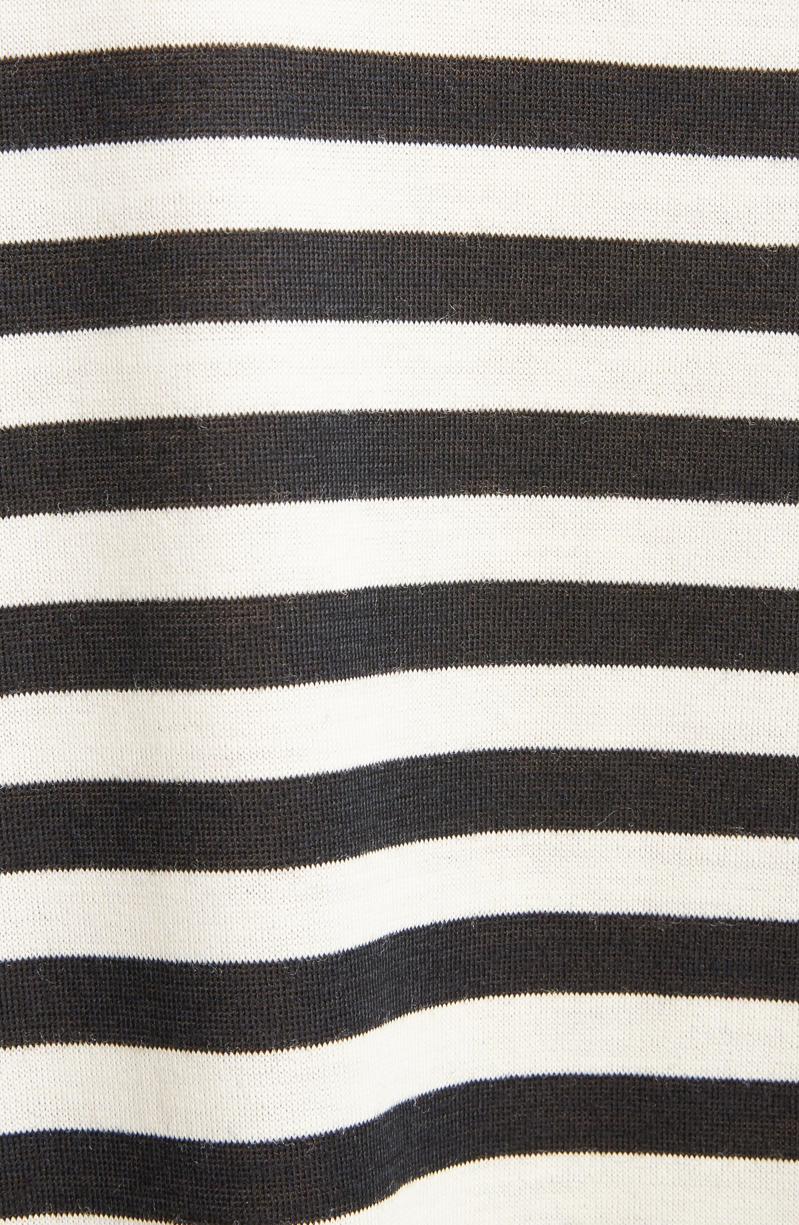 Mixed Media Dress,                             Alternate thumbnail 5, color,                             Black