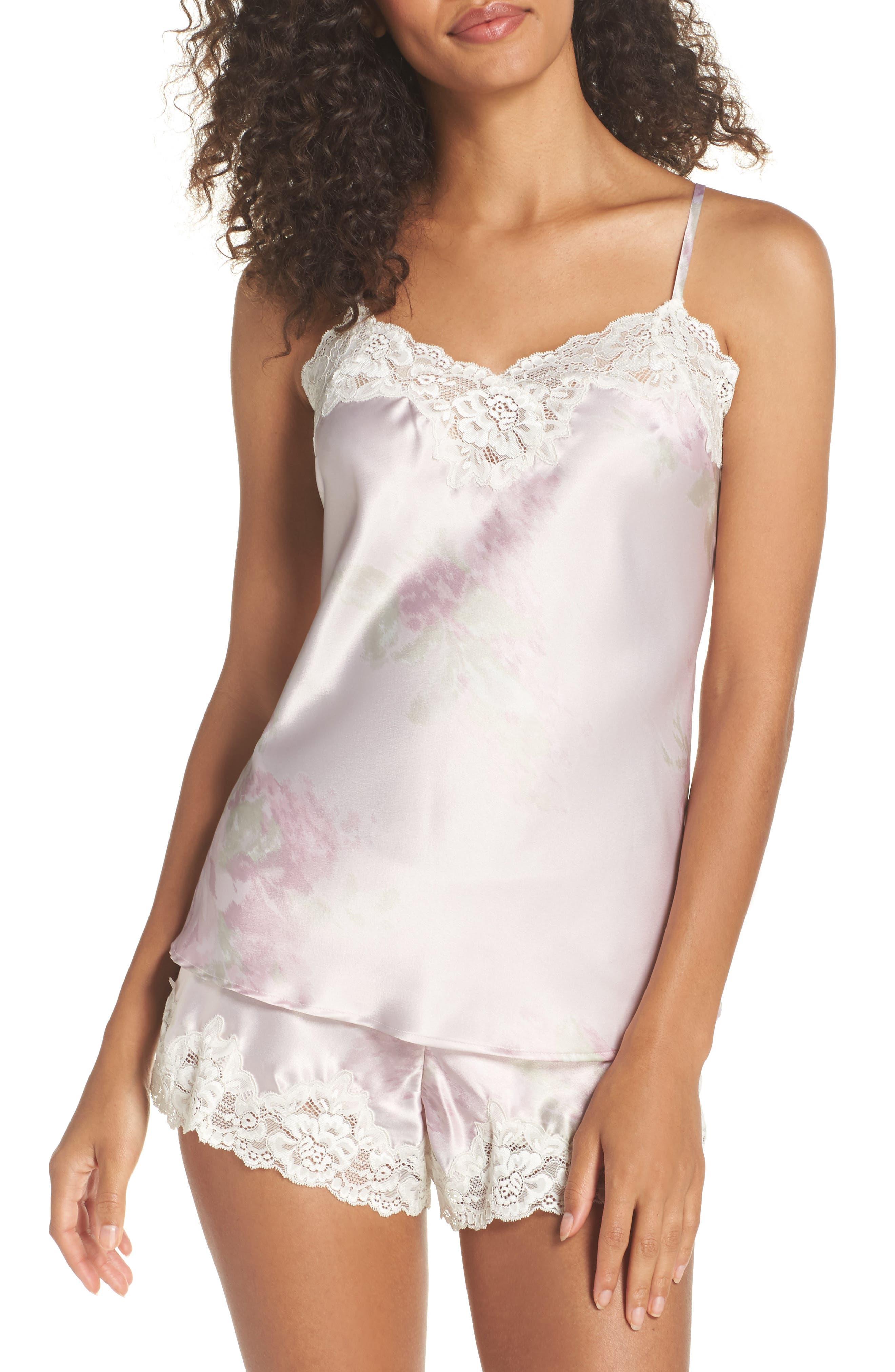 Short Pajamas,                         Main,                         color, Pink Ground Floral
