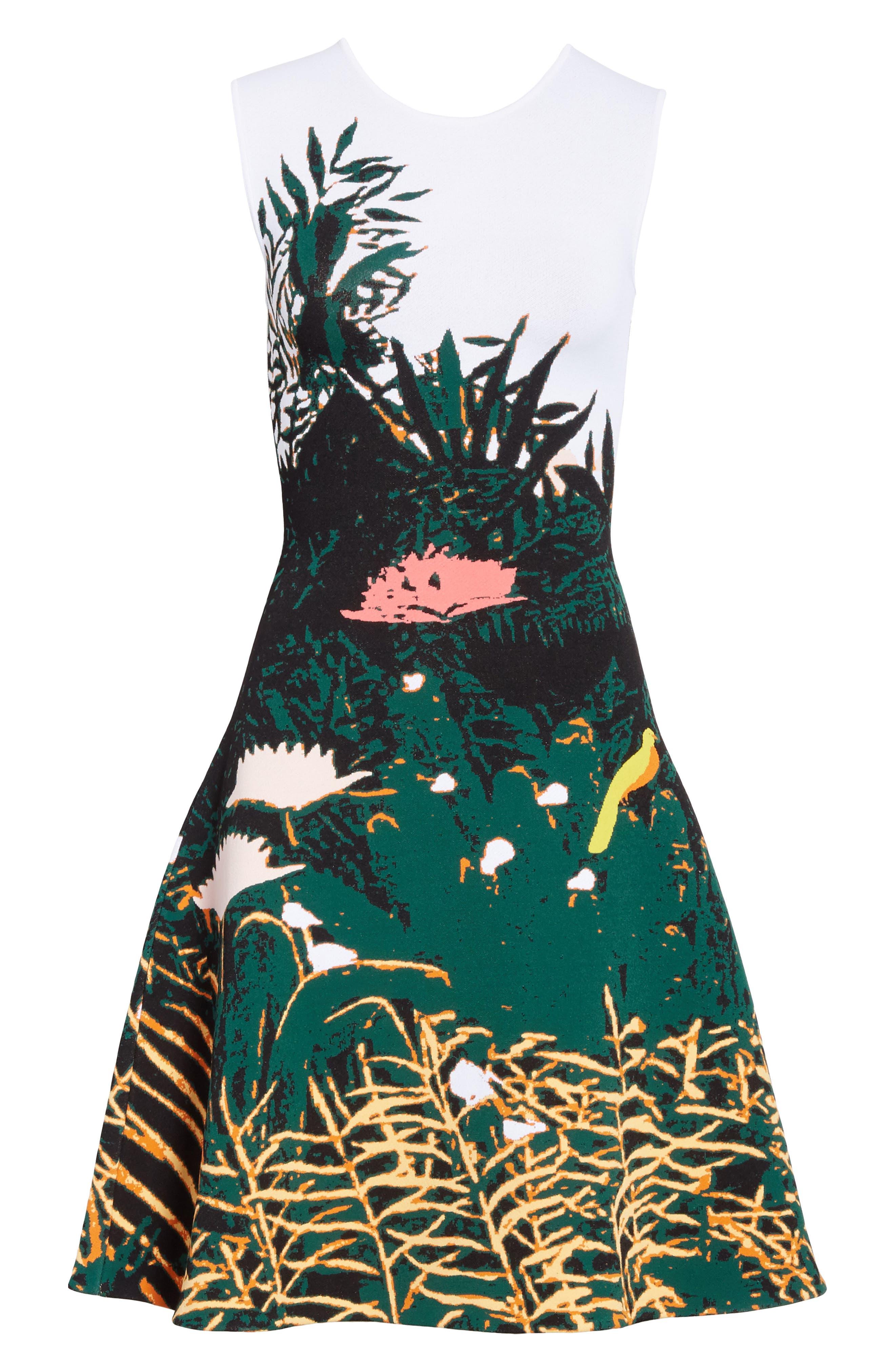 Sunset Intarsia Knit Dress,                             Alternate thumbnail 6, color,                             Multi