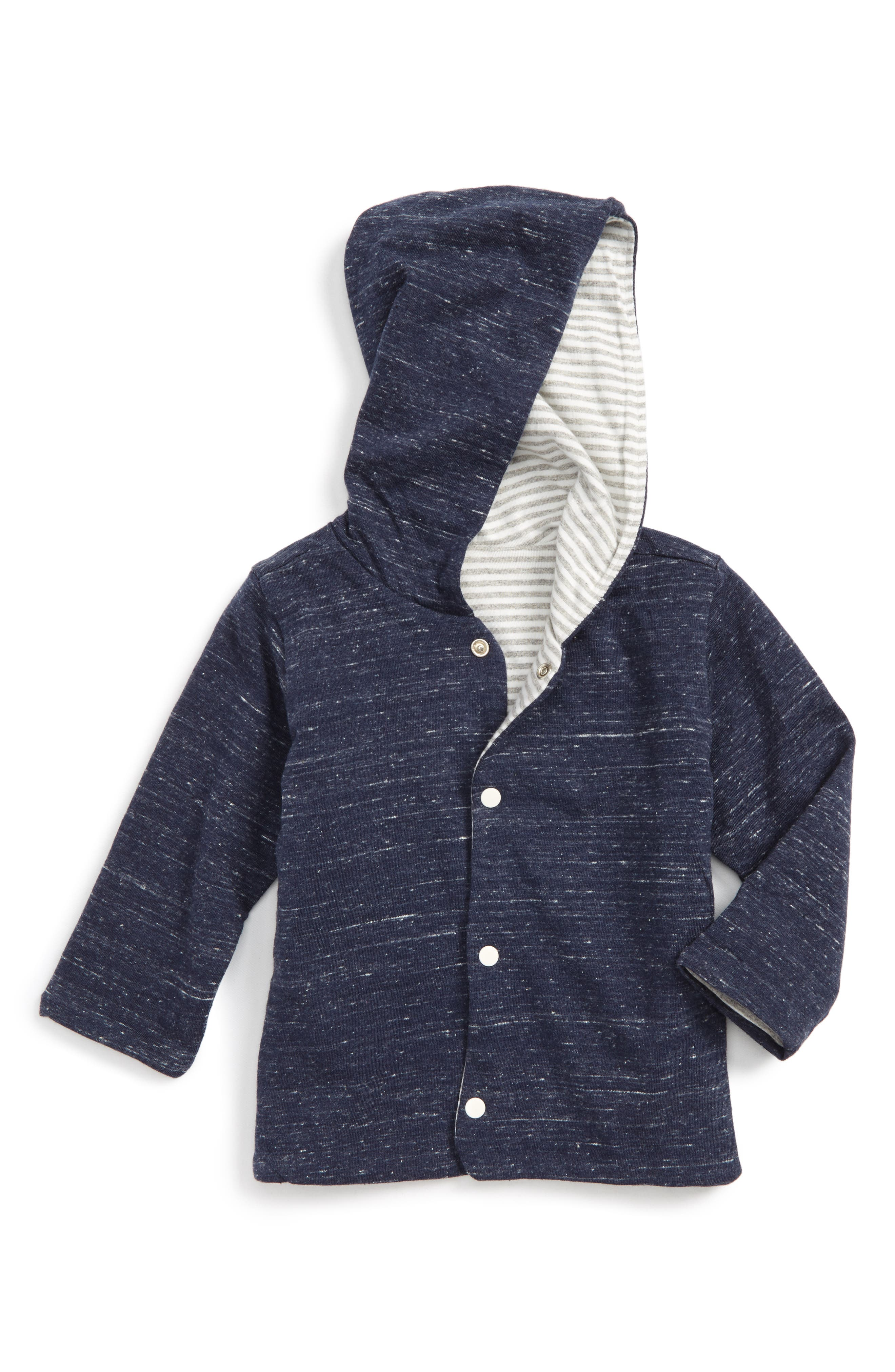 Alternate Image 1 Selected - Hatley Reversible Hoodie (Baby Boys)