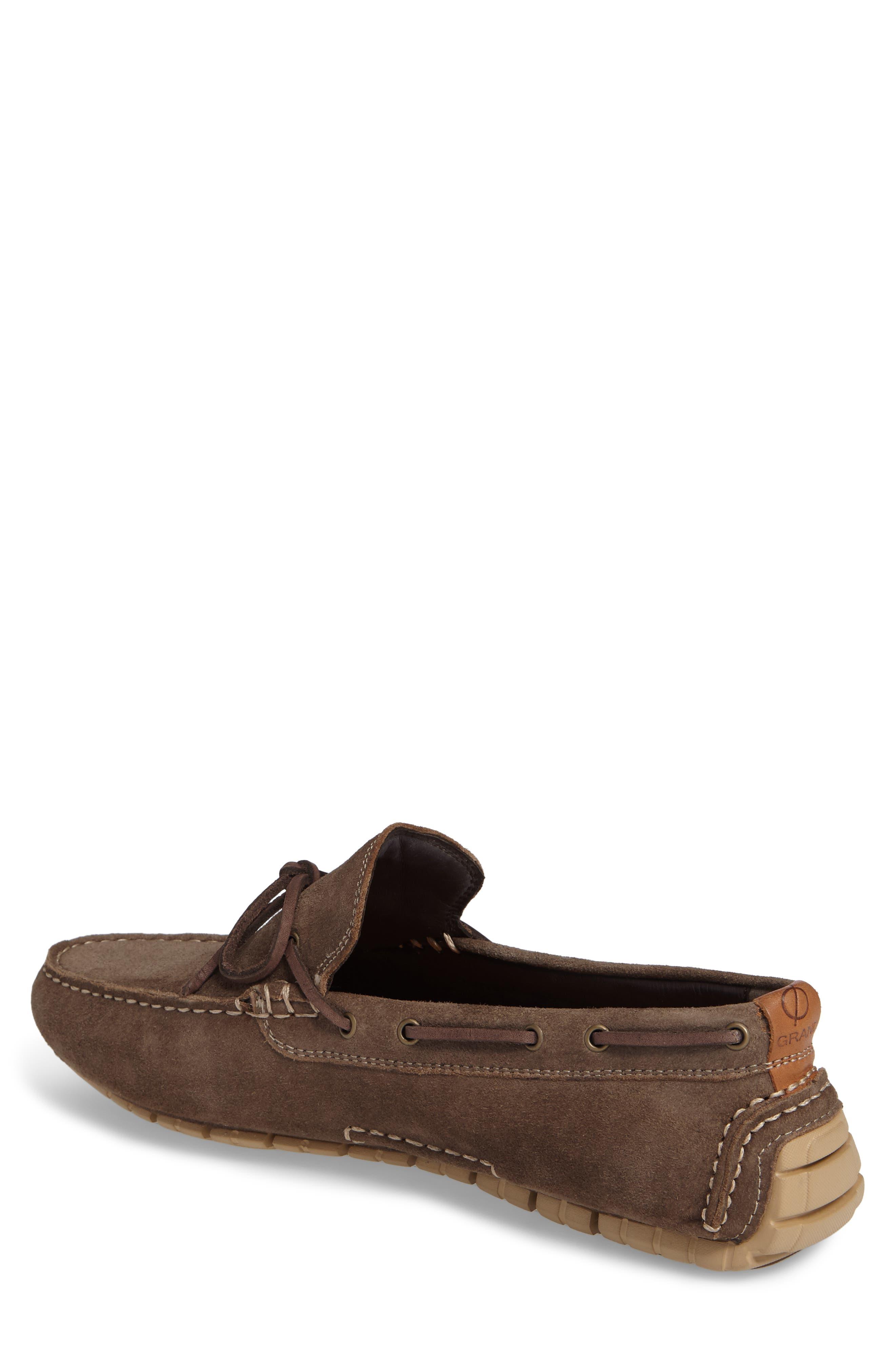 Zero Grand Moc Driving Loafer,                             Alternate thumbnail 2, color,                             Morel Leather