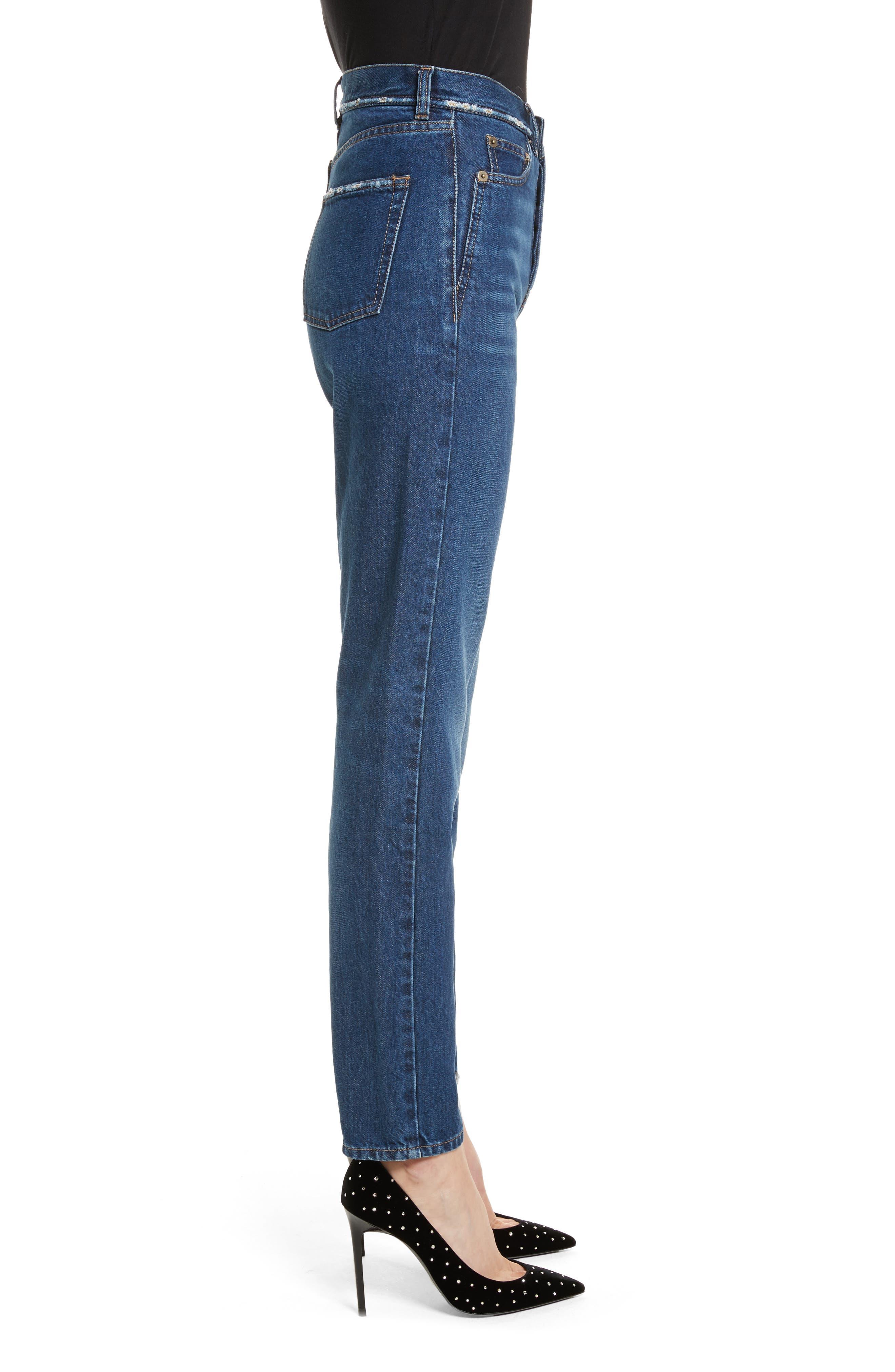 Alternate Image 3  - Saint Laurent Embroidered Jeans (Deep Dark Blue)