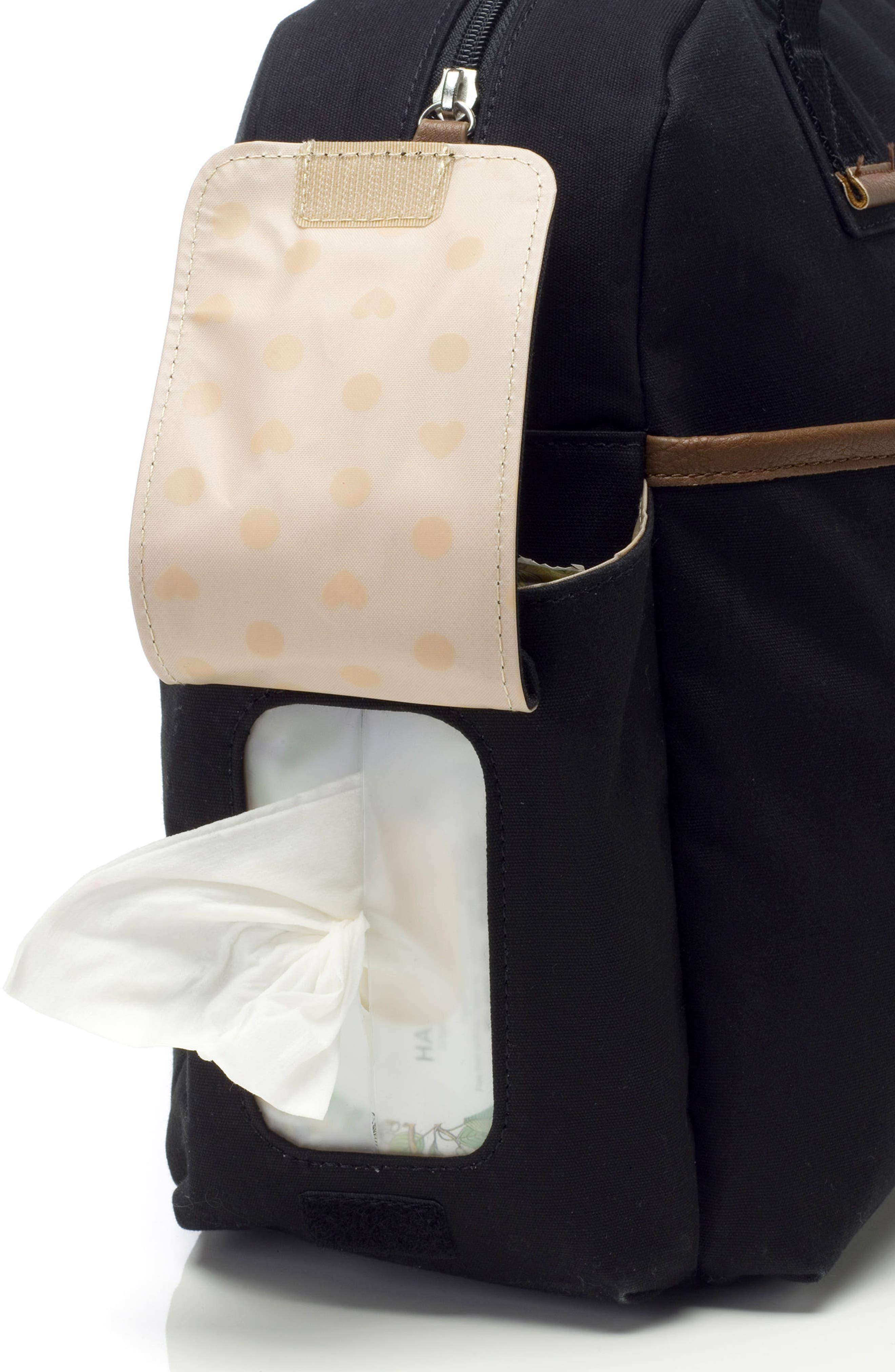 Jesse Diaper Bag,                             Alternate thumbnail 6, color,                             Black