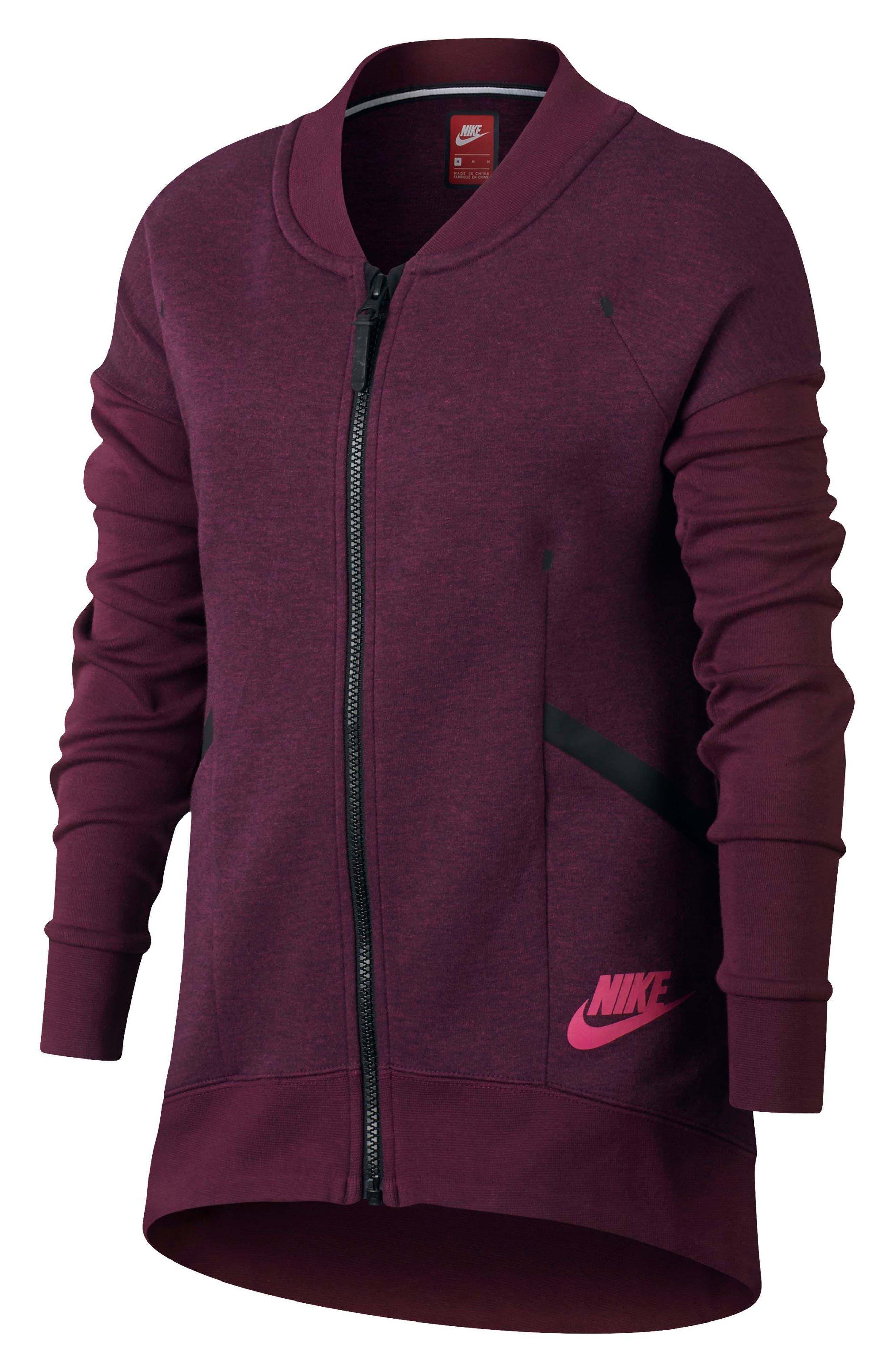 Alternate Image 3  - Nike Tech Fleece Zip Jacket (Big Girls)