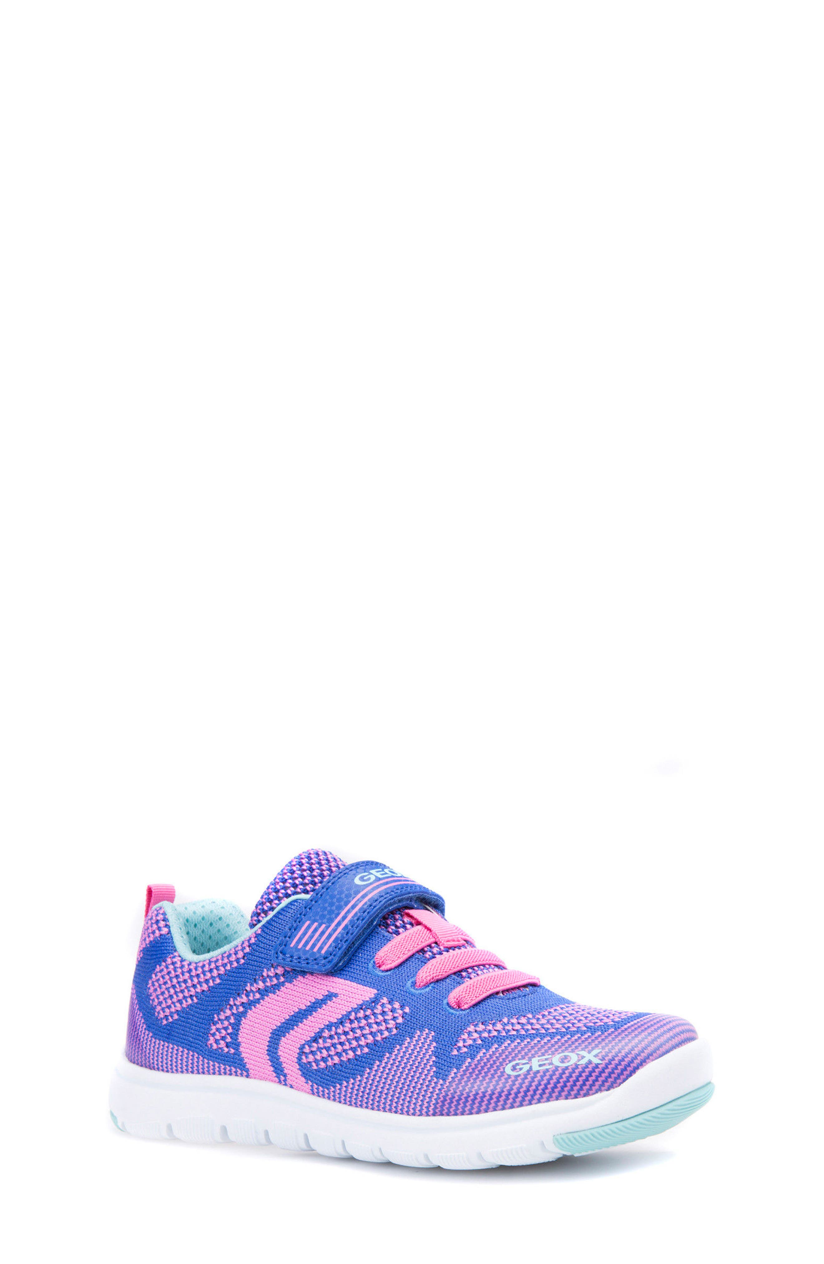 Xunday Low Top Woven Sneaker,                             Main thumbnail 1, color,                             Bluette/ Fuchsia