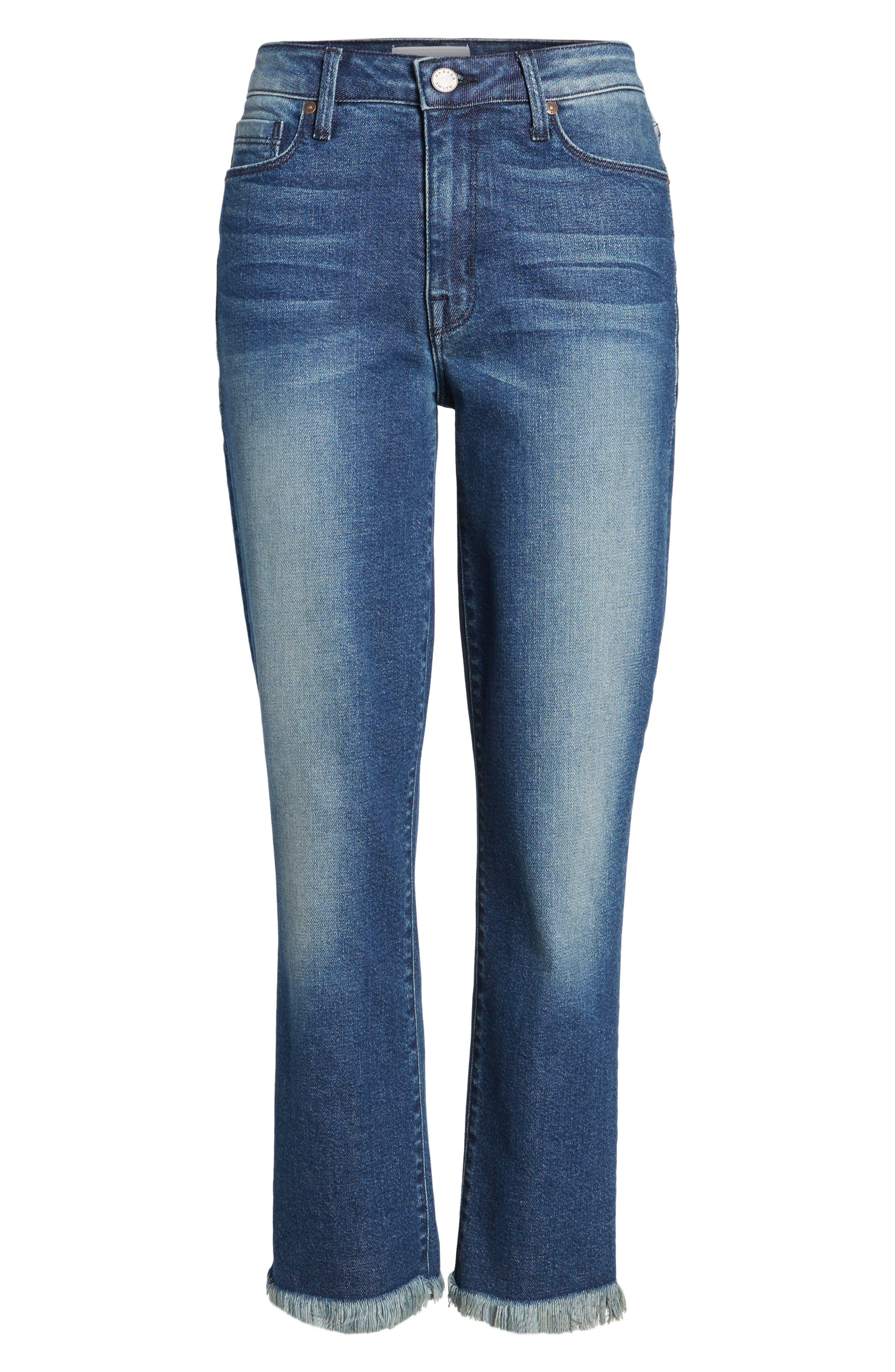 Alternate Image 6  - PARKER SMITH Pin-Up Crop Straight Leg Jeans (Captain)