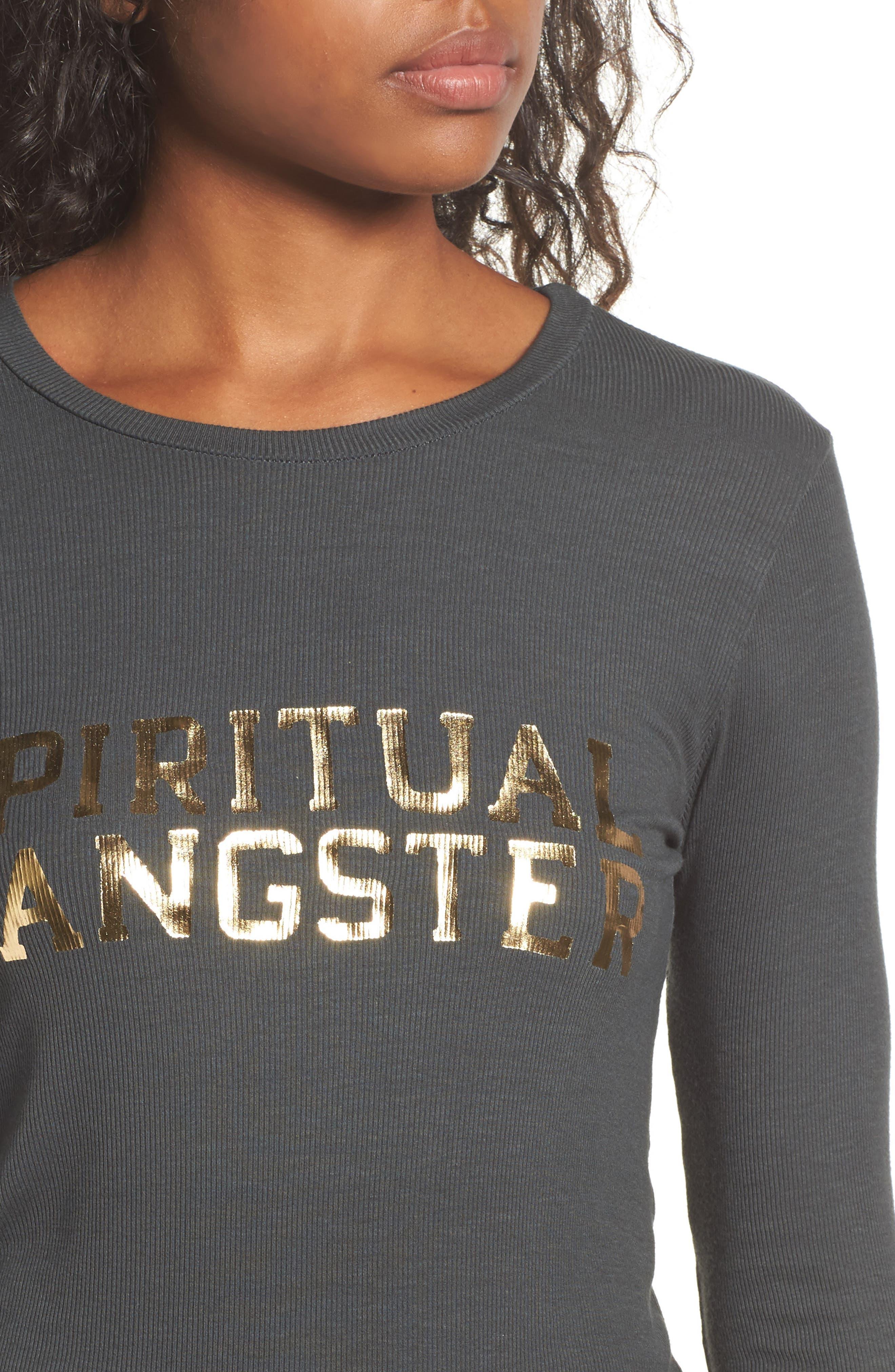 Alternate Image 4  - Spiritual Gangster Varsity Après Foiled Tee