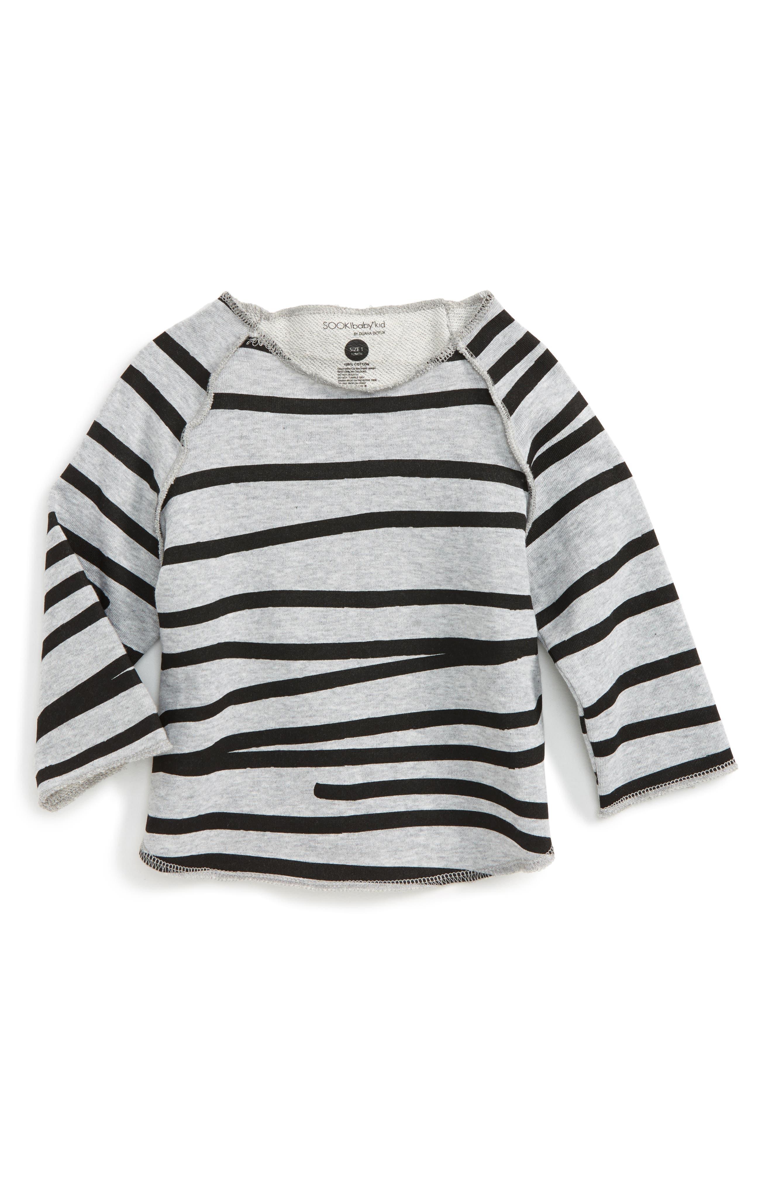 SOOKIbaby Relaxed Stripe Sweatshirt (Baby)
