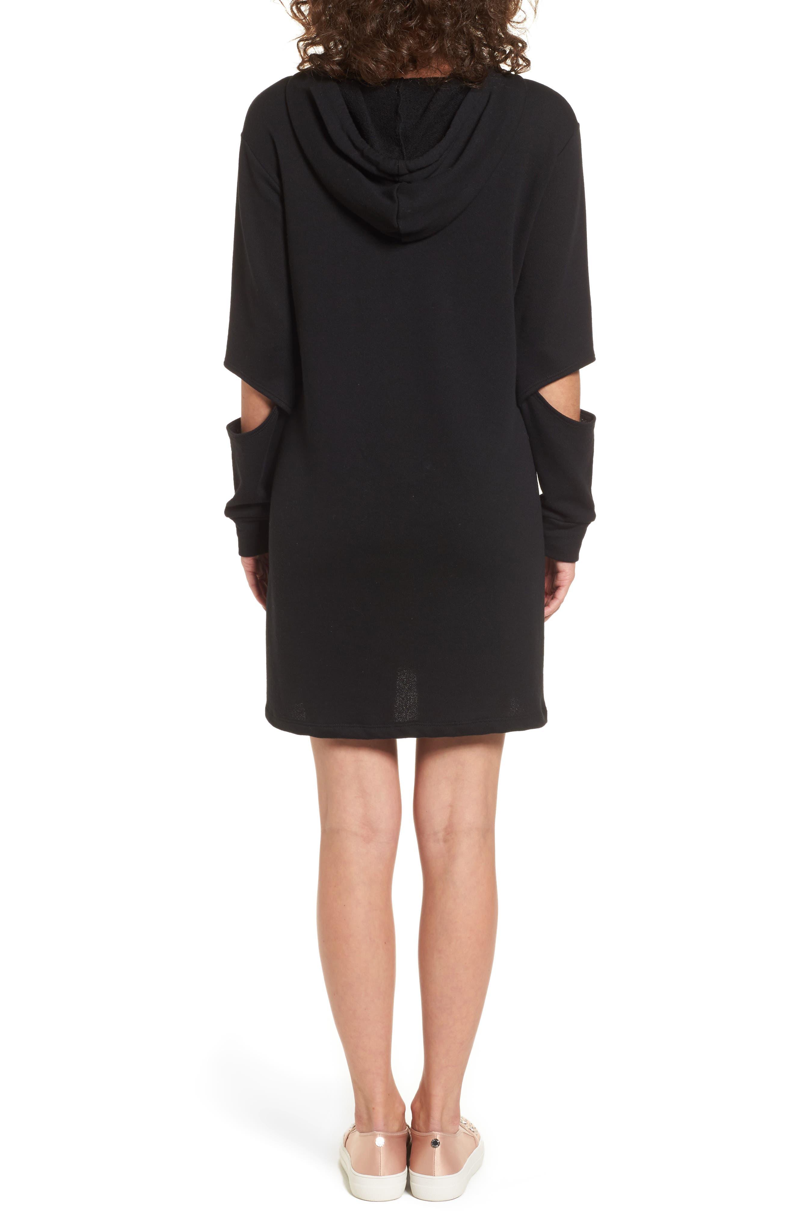 Alternate Image 2  - Socialite Cutout Sleeve Hoodie Dress
