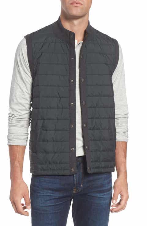 Barbour 'Essential' Tailored Fit Mixed Media Vest - Men's Sweater Vests Nordstrom Nordstrom