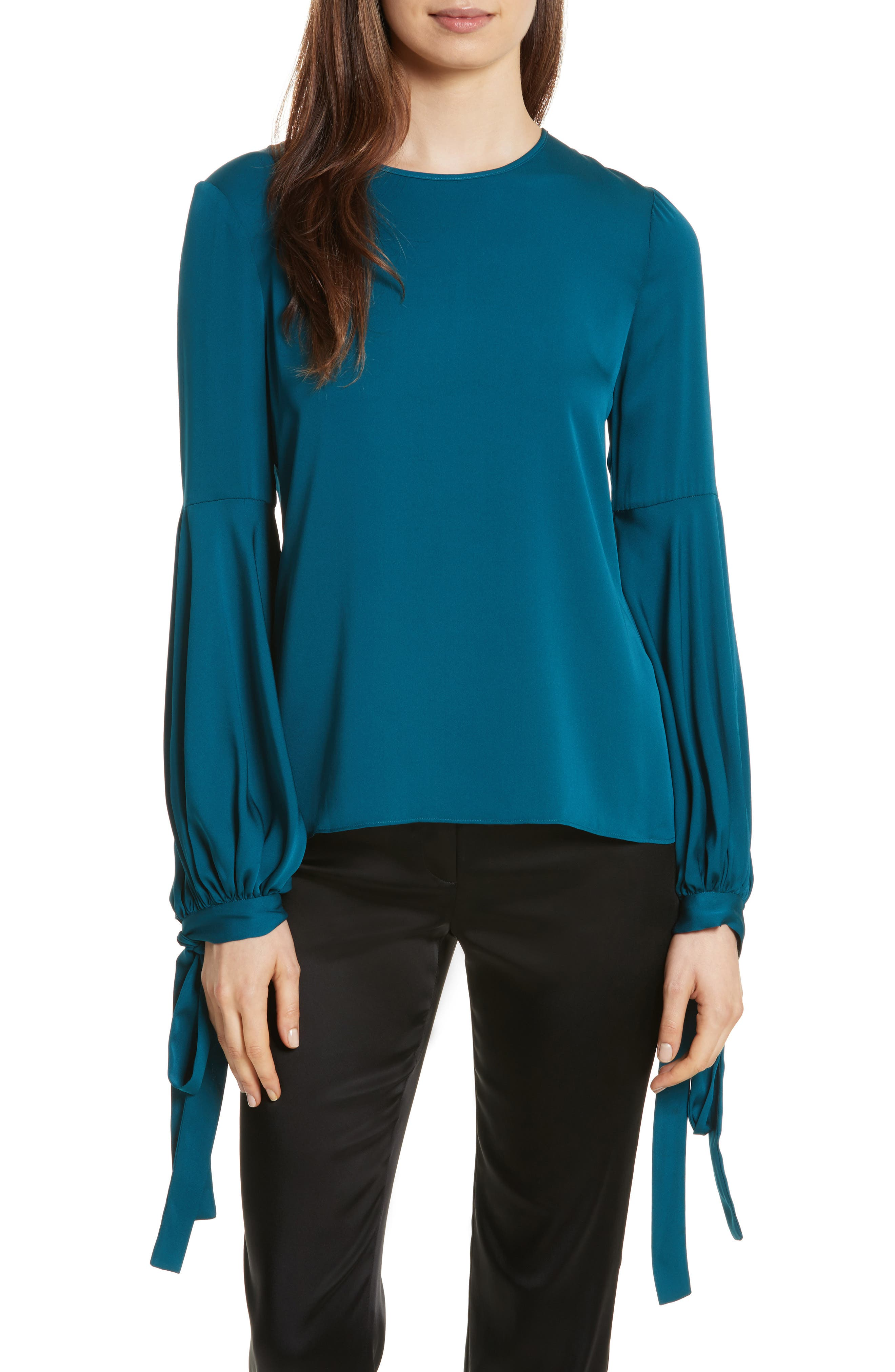 Alternate Image 1 Selected - Milly Juliette Stretch Silk Blouse