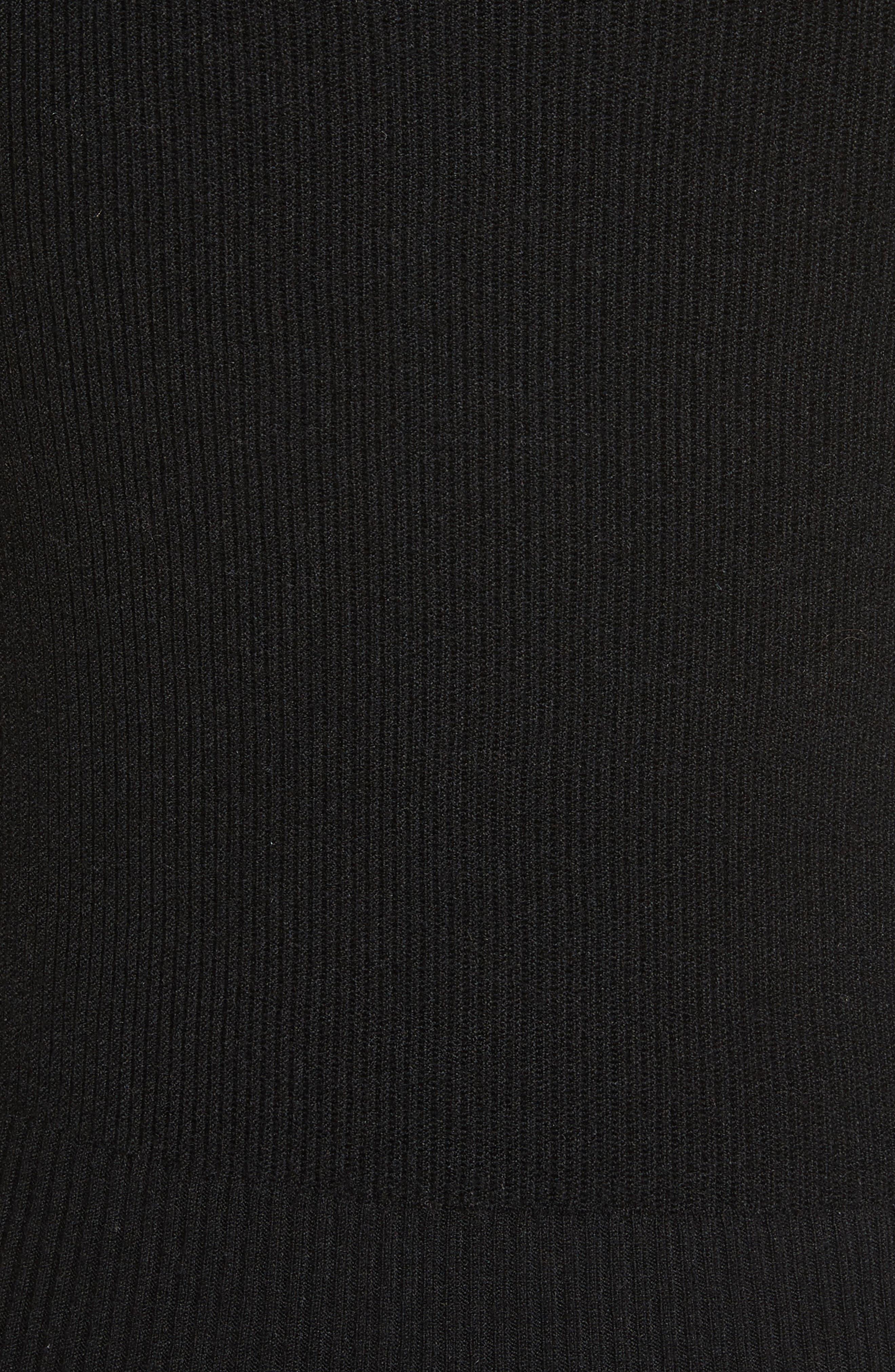 Décolletage Sweater,                             Alternate thumbnail 5, color,                             Black