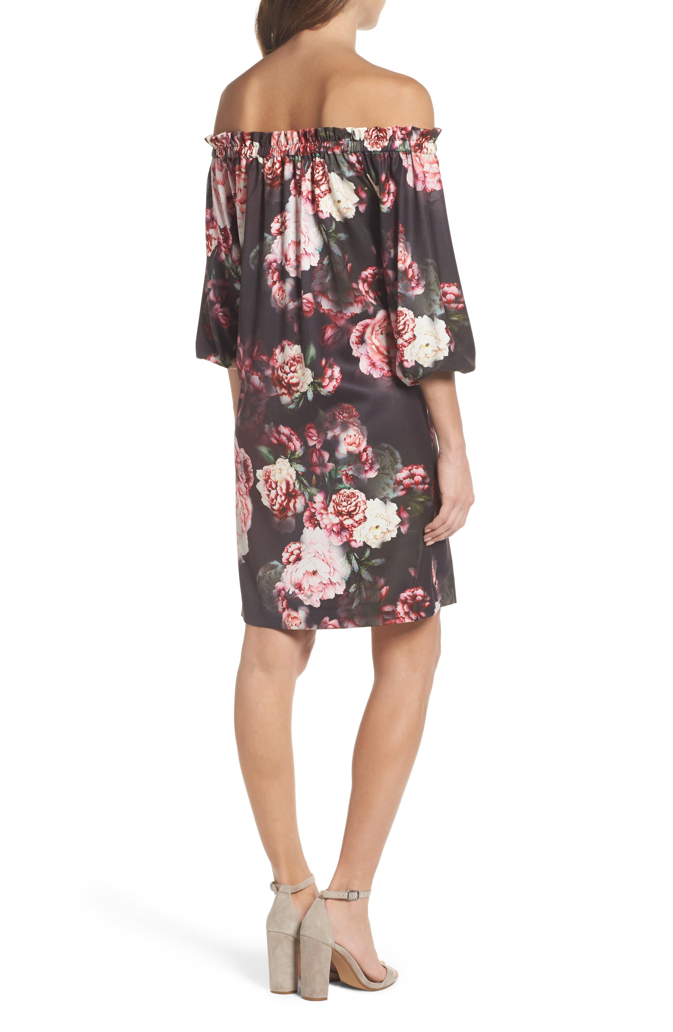Alternate Image 2  - Felicity & Coco Print Off the Shoulder Shift Dress (Regular & Petite) (Nordstrom Exclusive)
