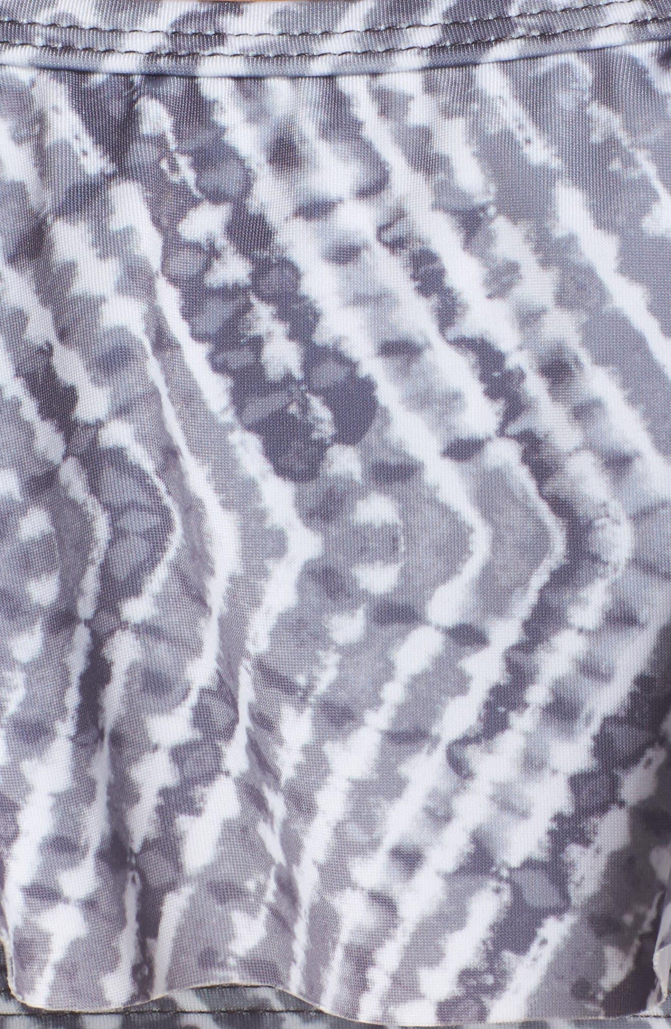 Off the Shoulder Bikini Top,                             Alternate thumbnail 5, color,                             Grey Excalibur Chevron