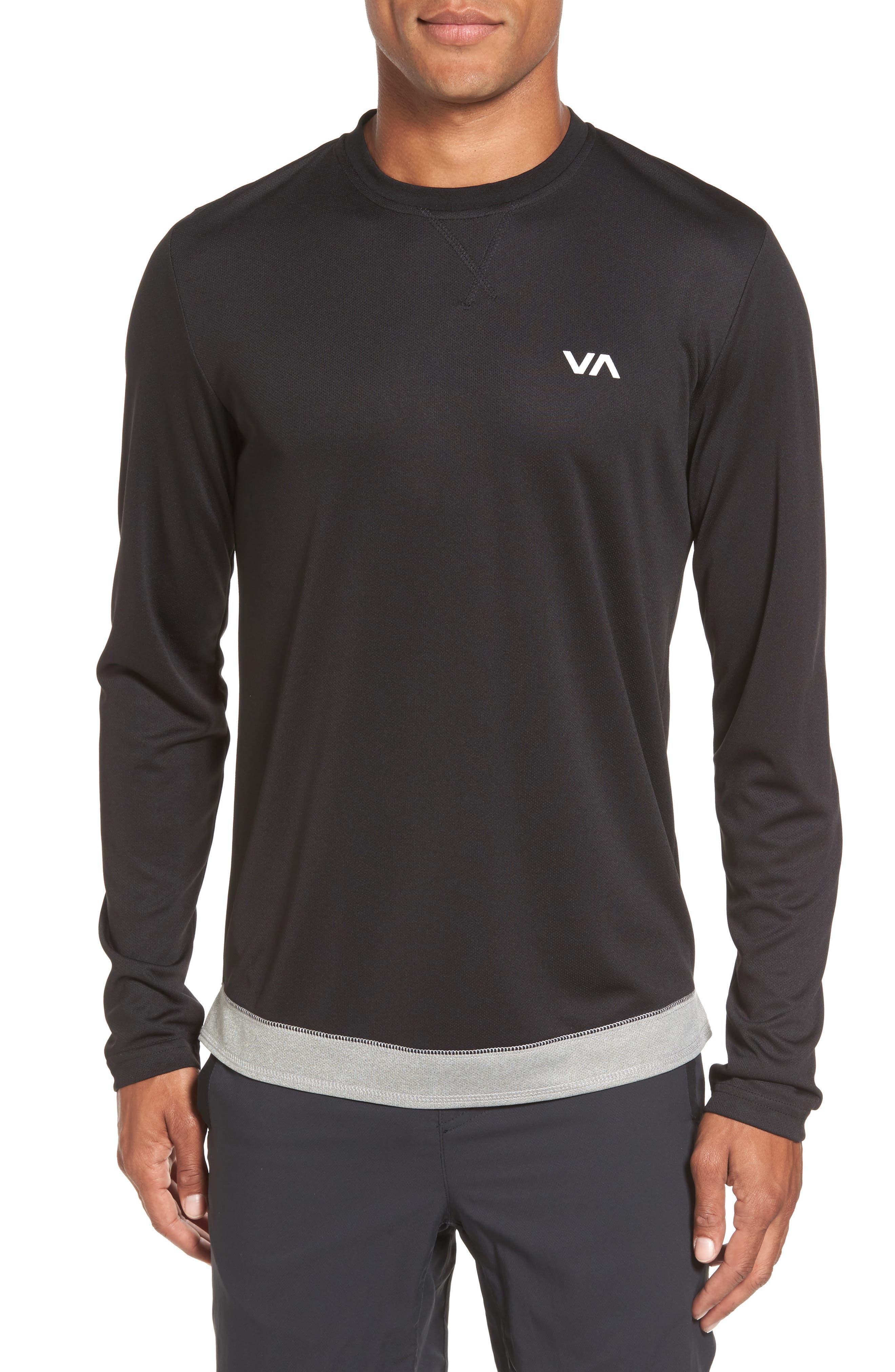 Runner Mesh Long Sleeve T-Shirt,                         Main,                         color, Black