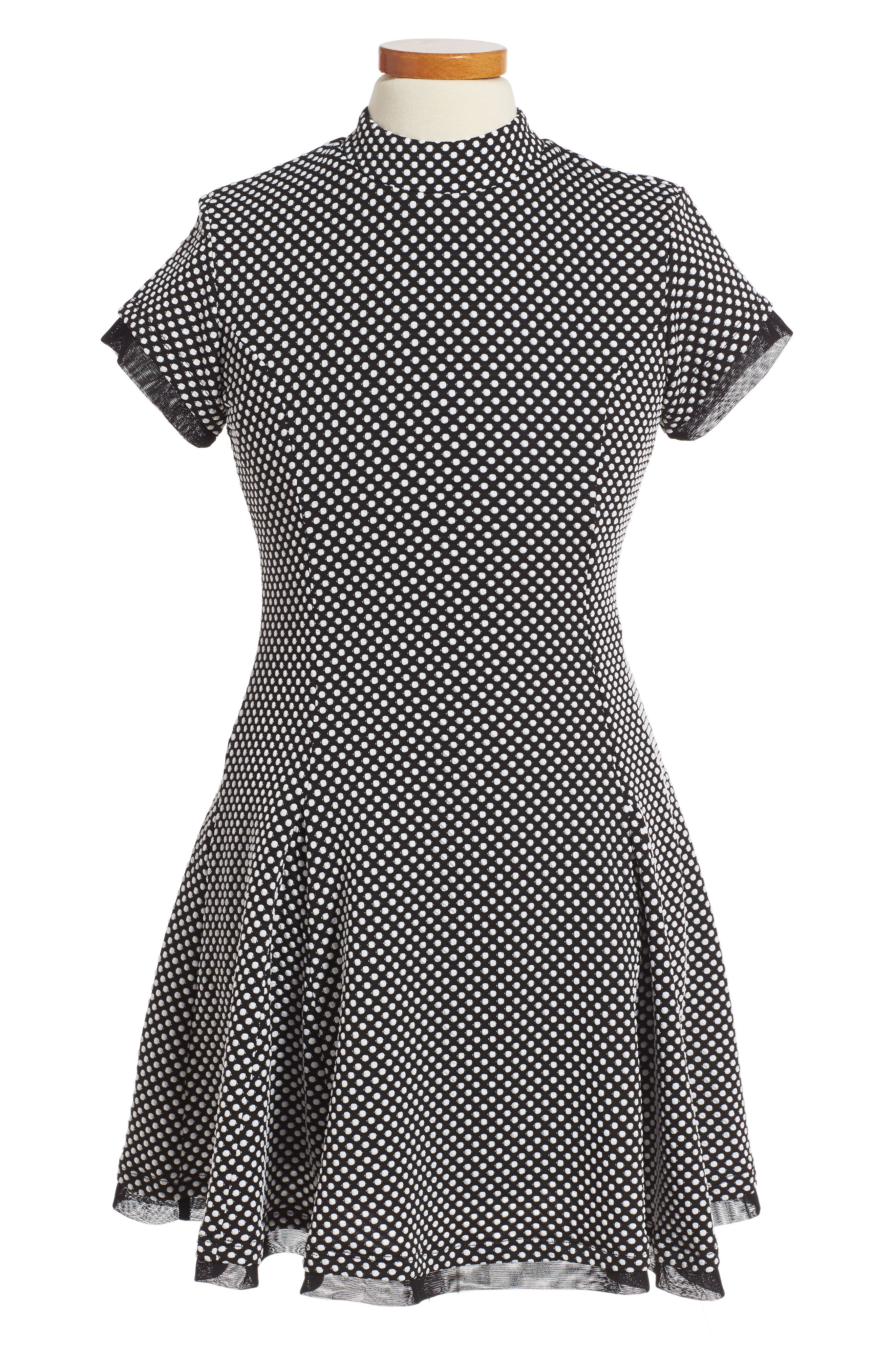 Elisa B Polka Dot Skater Dress (Big Girls)