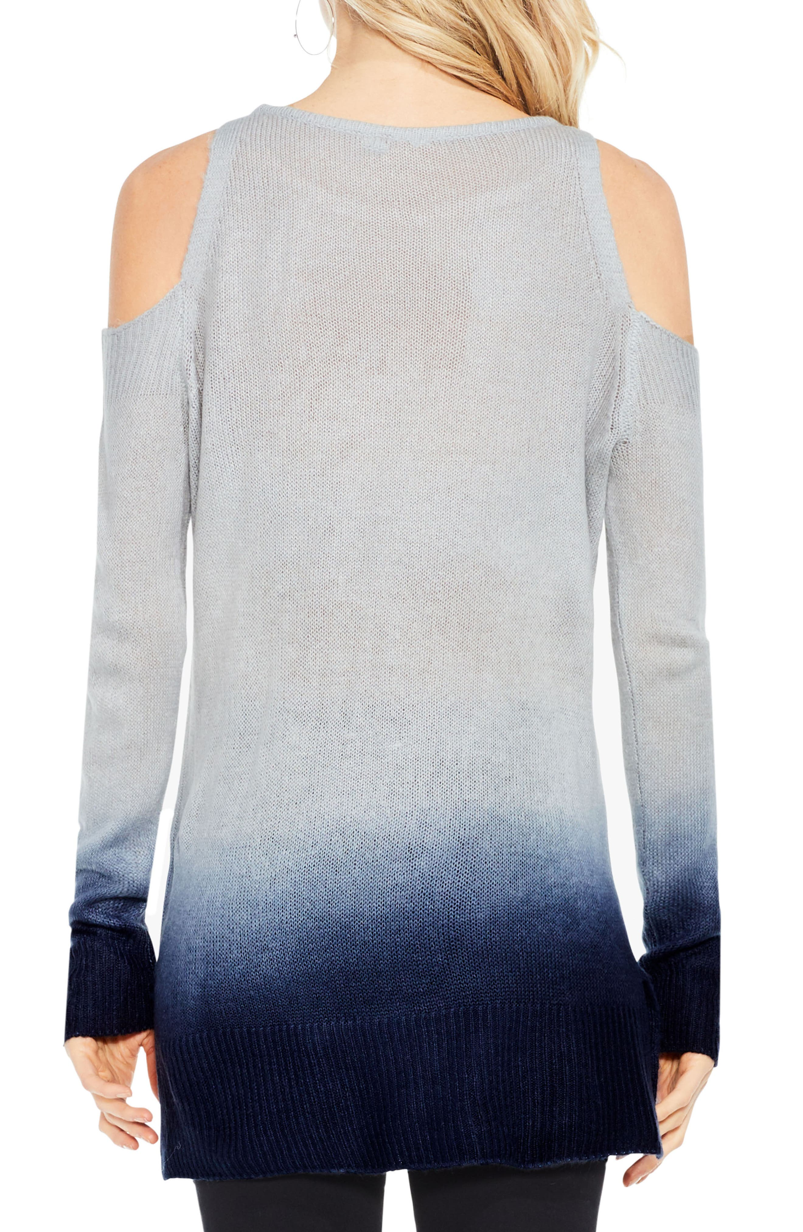 Alternate Image 3  - Two by Vince Camuto Cold Shoulder Ombré Sweater
