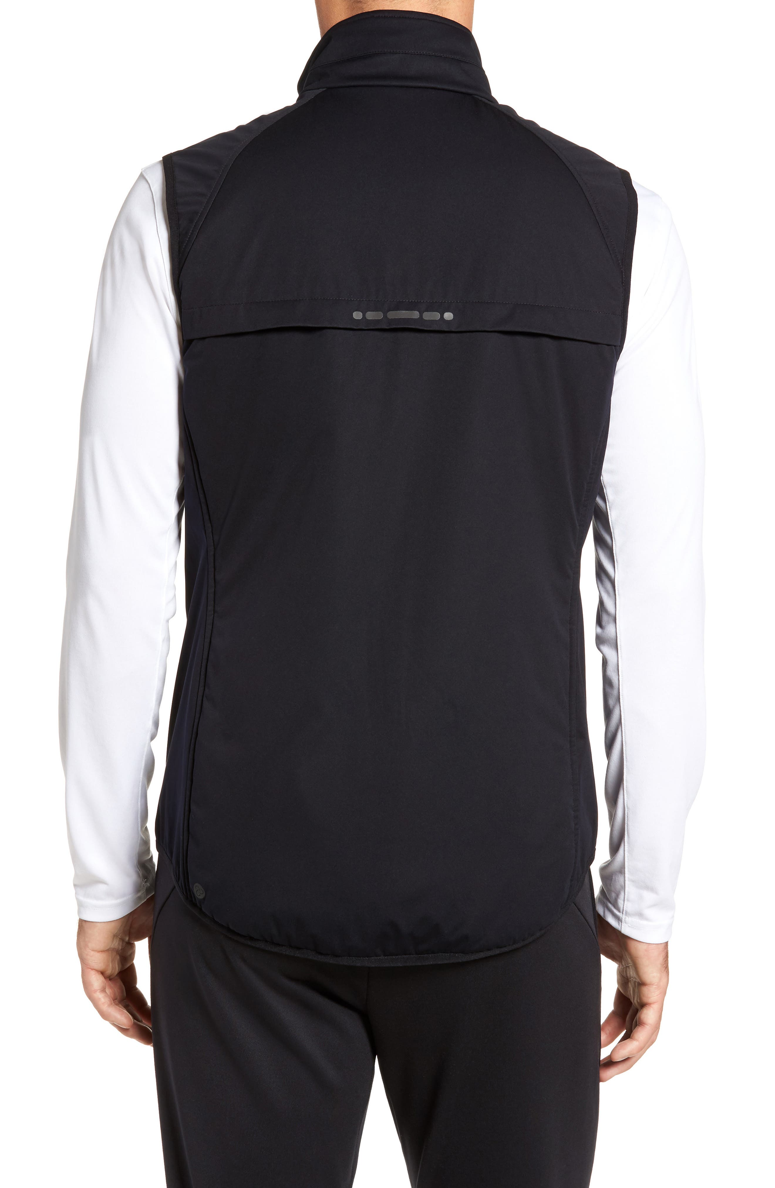 Soft Shell Zip Vest,                             Alternate thumbnail 2, color,                             Black