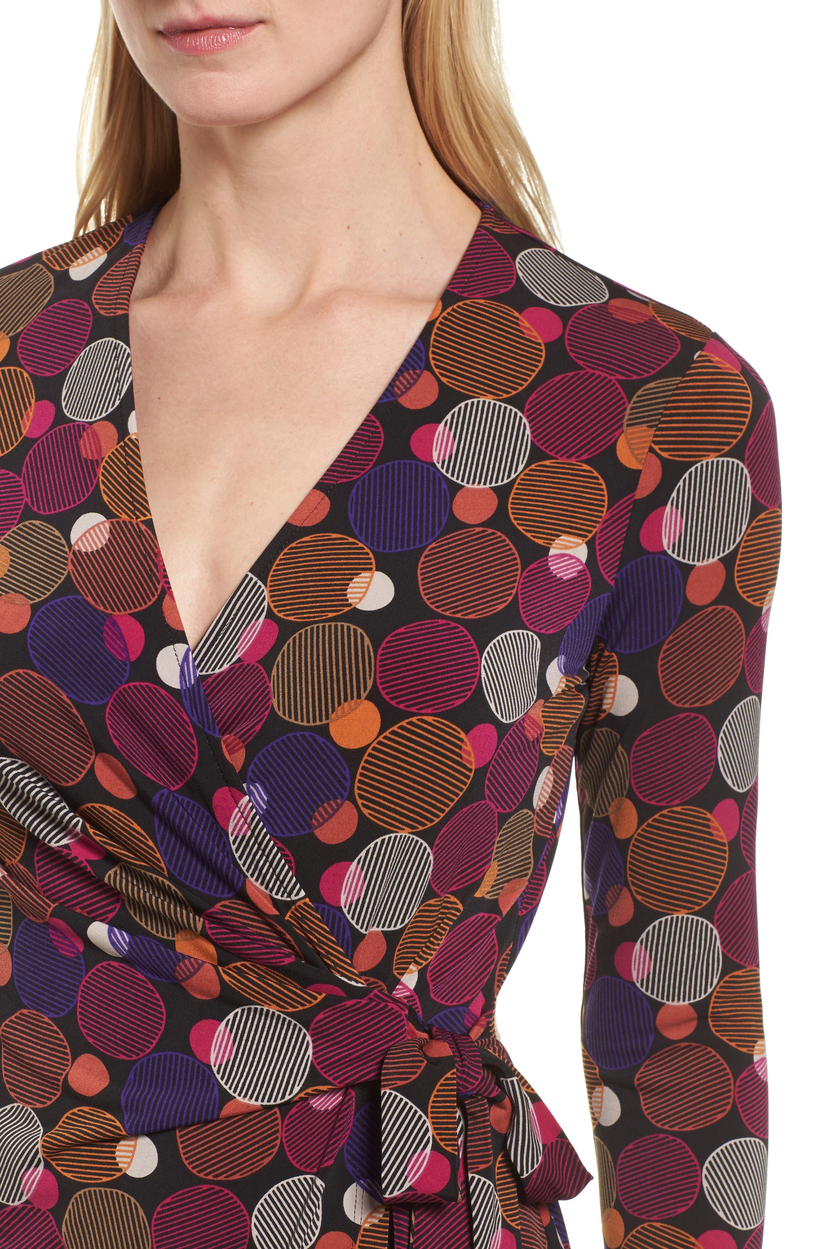 Alternate Image 4  - Anne Klein Dot Print Faux Wrap Dress