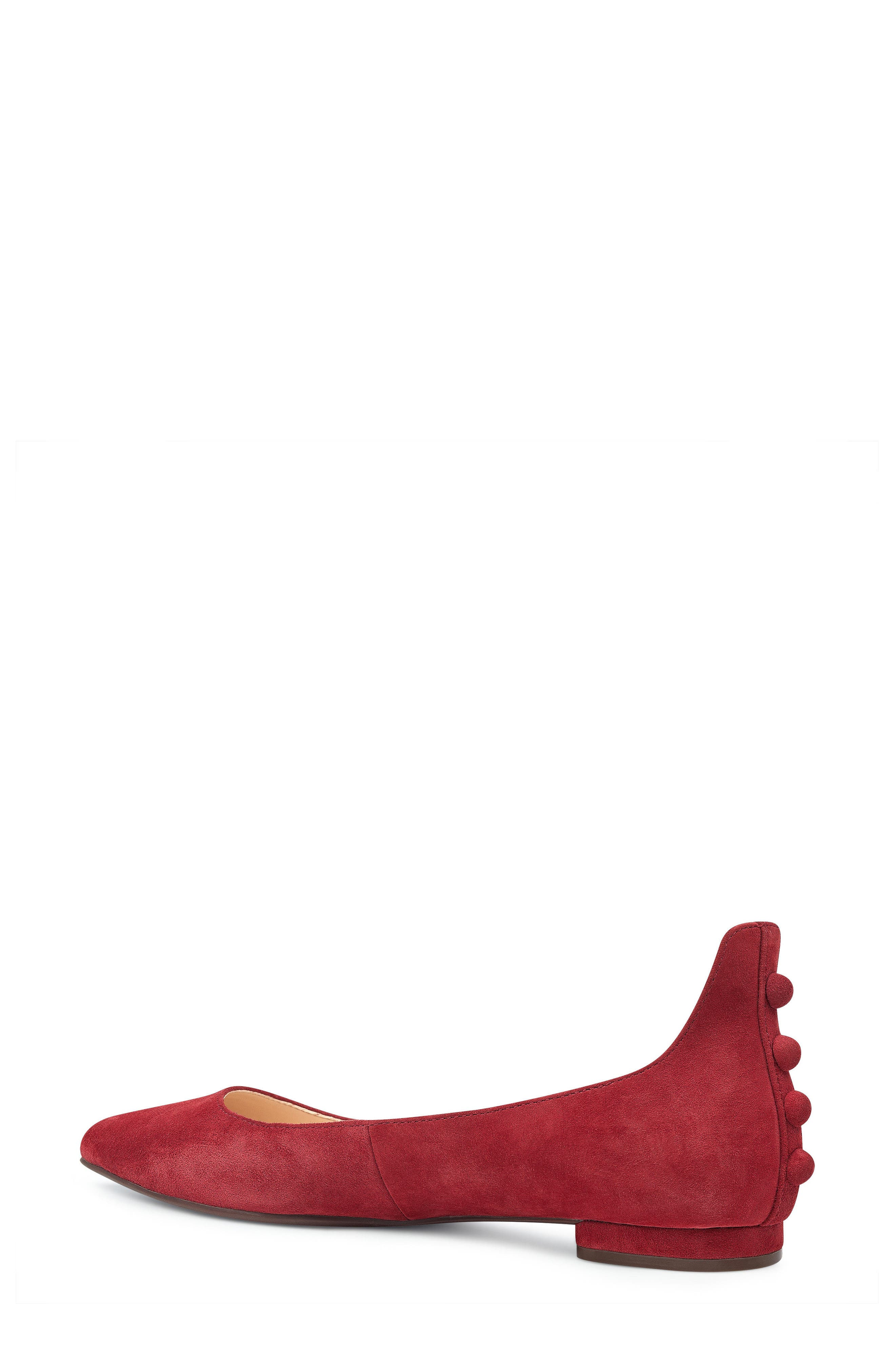 Owl Skimmer Flat,                             Alternate thumbnail 2, color,                             Red Suede