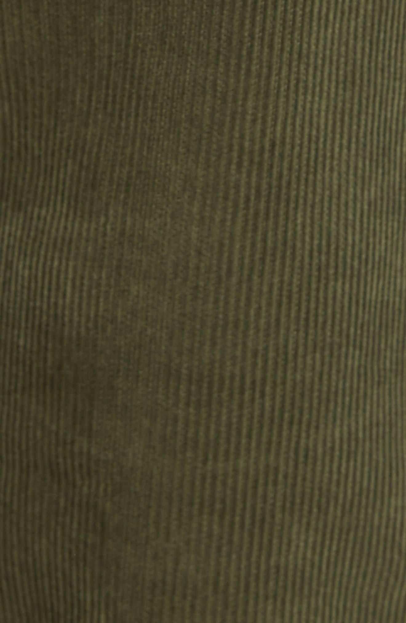 'Graduate' Tailored Straight Leg Corduroy Pants,                             Alternate thumbnail 5, color,                             Sulfur Climbing Ivy