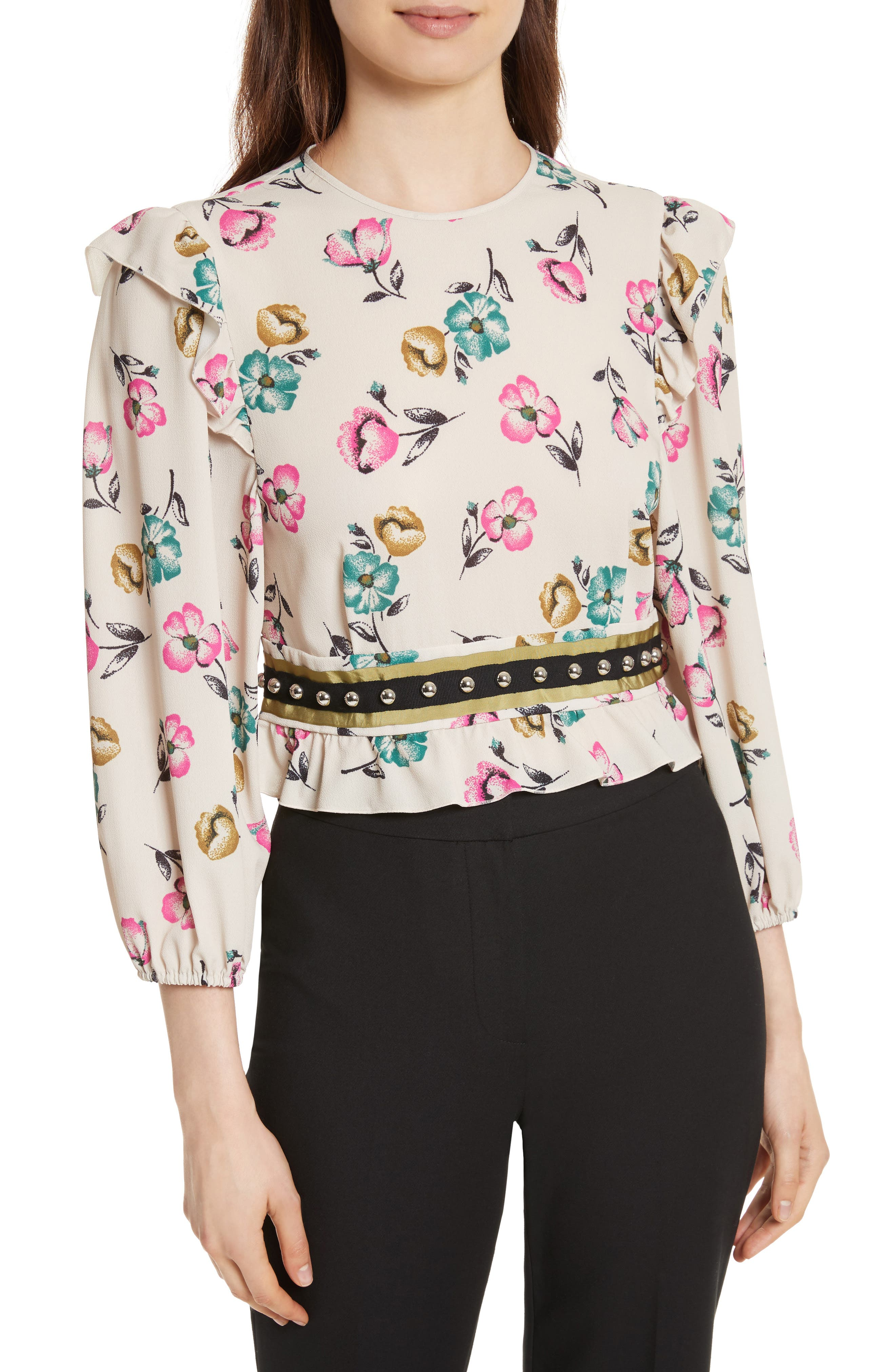 Alternate Image 1 Selected - RED Valentino Anemone Floral Print Blouse