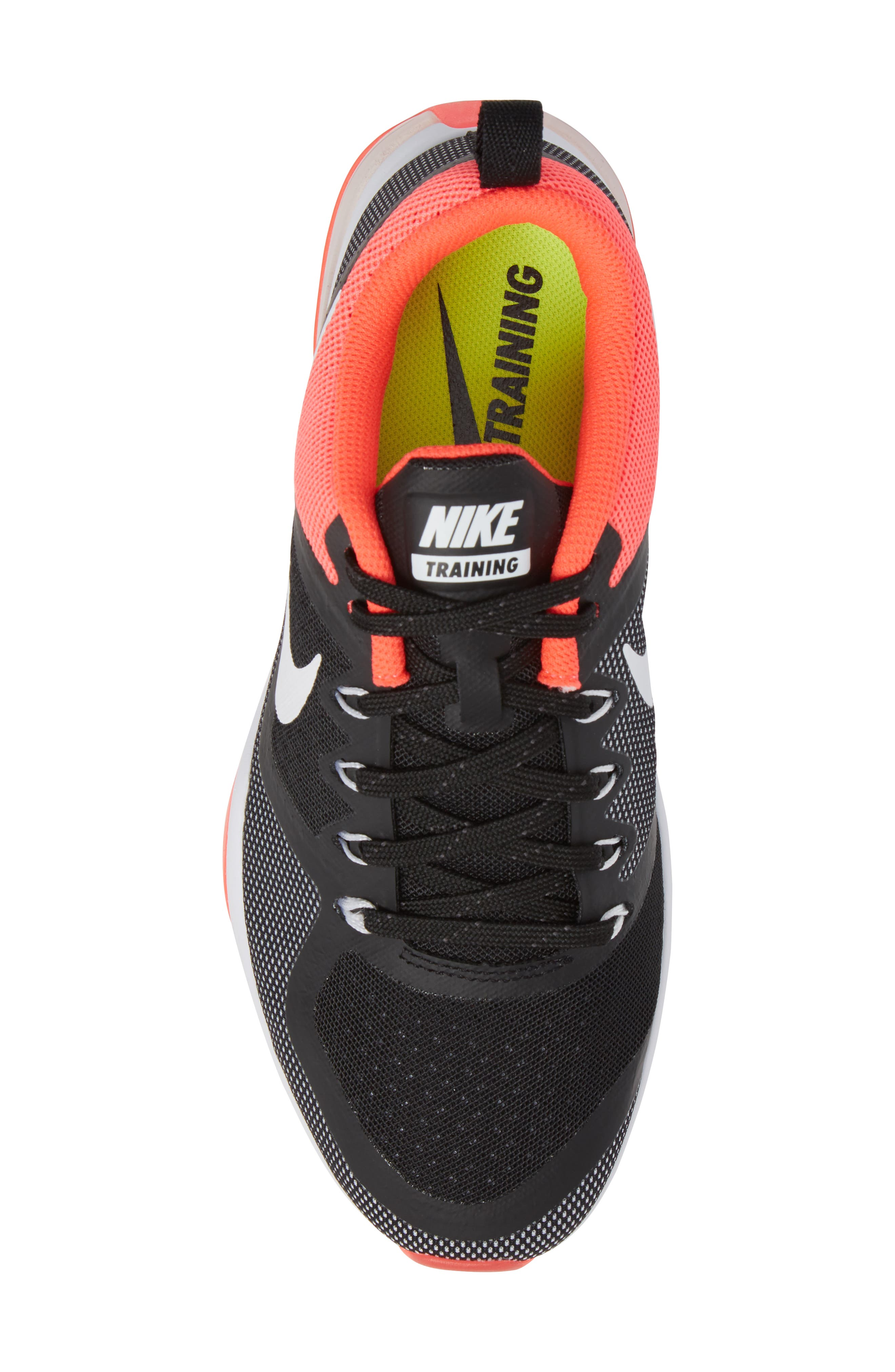 Air Zoom Fitness Training Shoe,                             Alternate thumbnail 5, color,                             Black/ White/ Solar Red