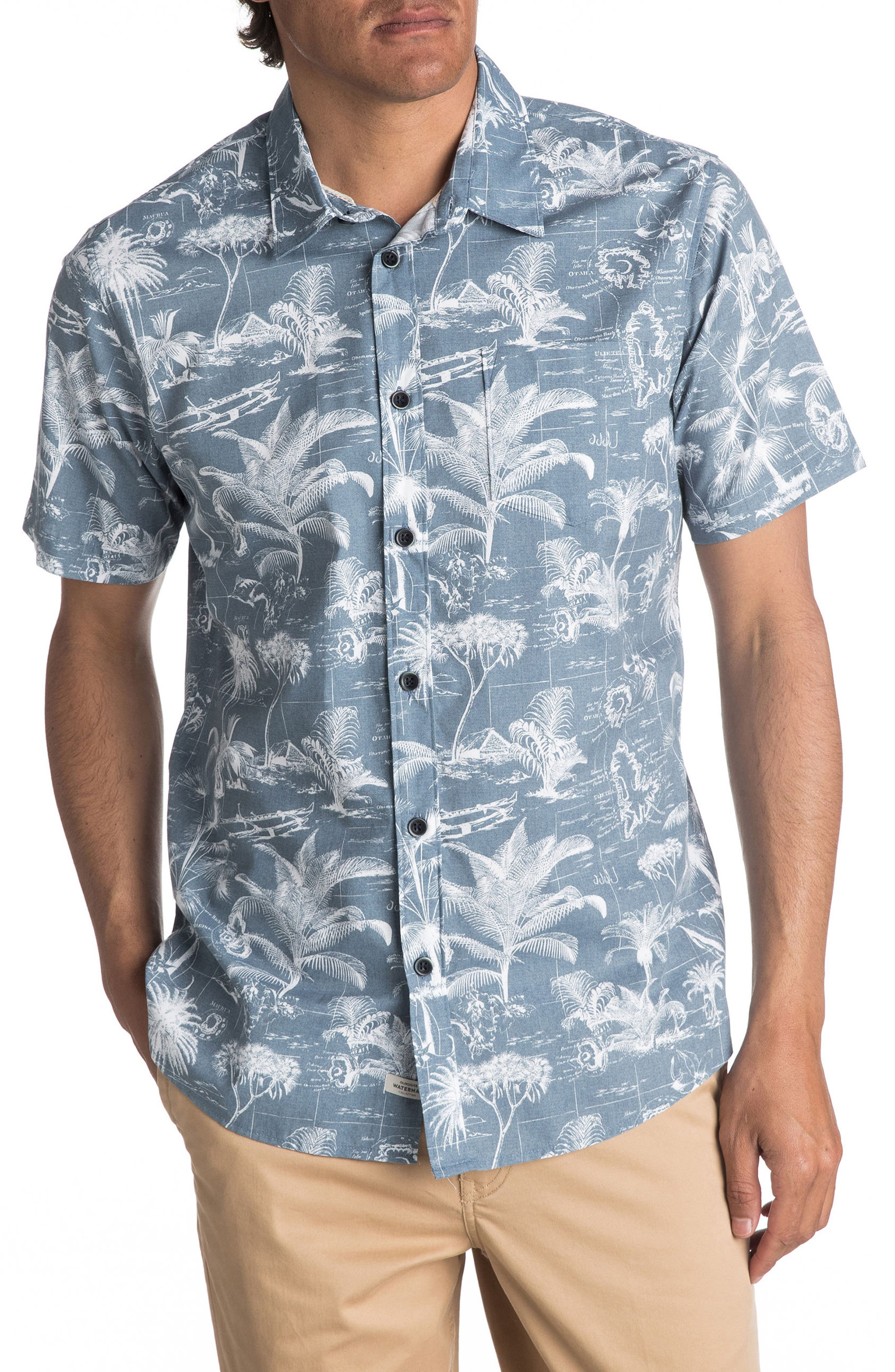 Alternate Image 1 Selected - Quiksilver Waterman Collection Palmitoto Shirt