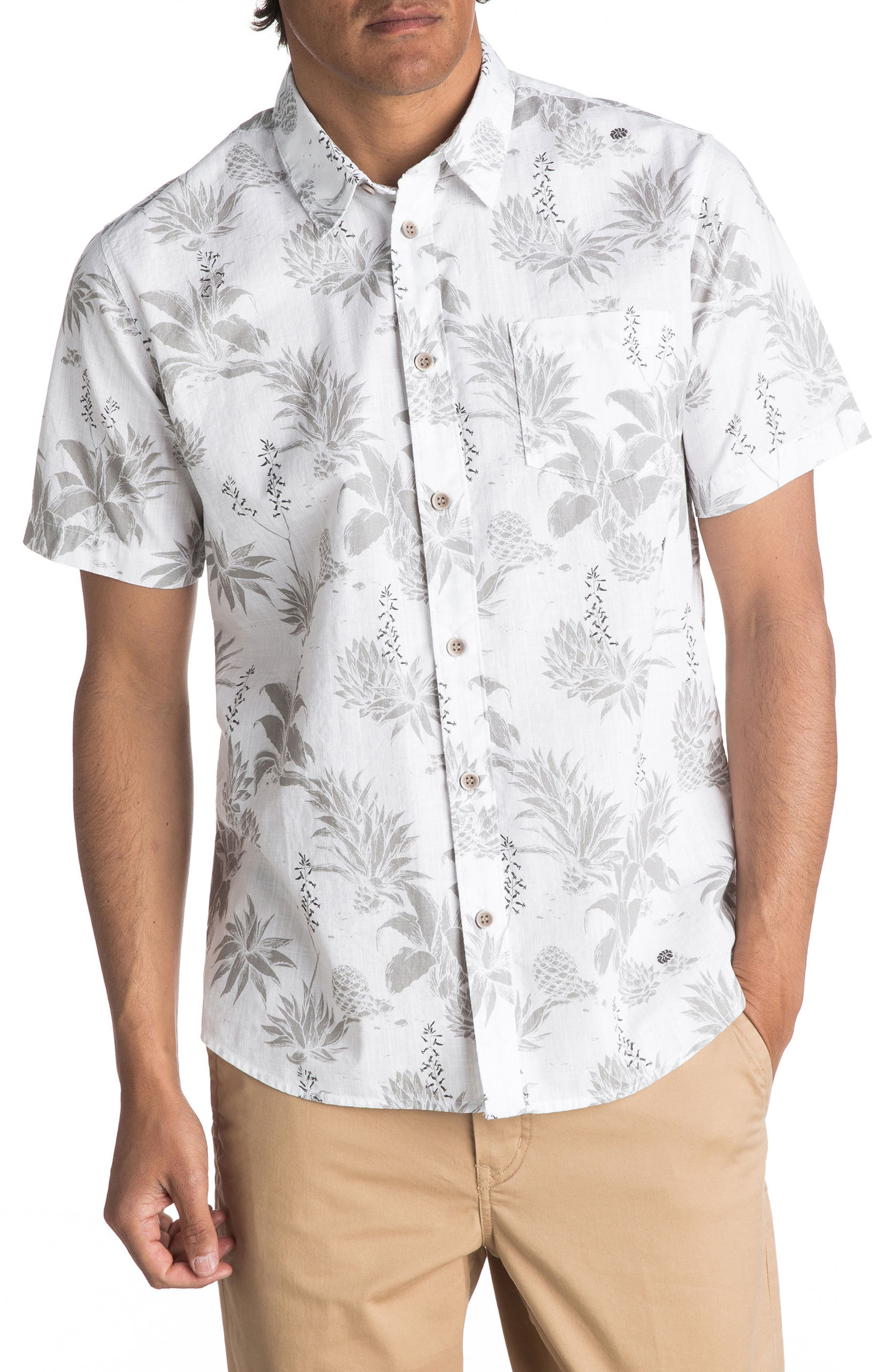 Main Image - Quiksilver Waterman Collection Agavy Print Sport Shirt