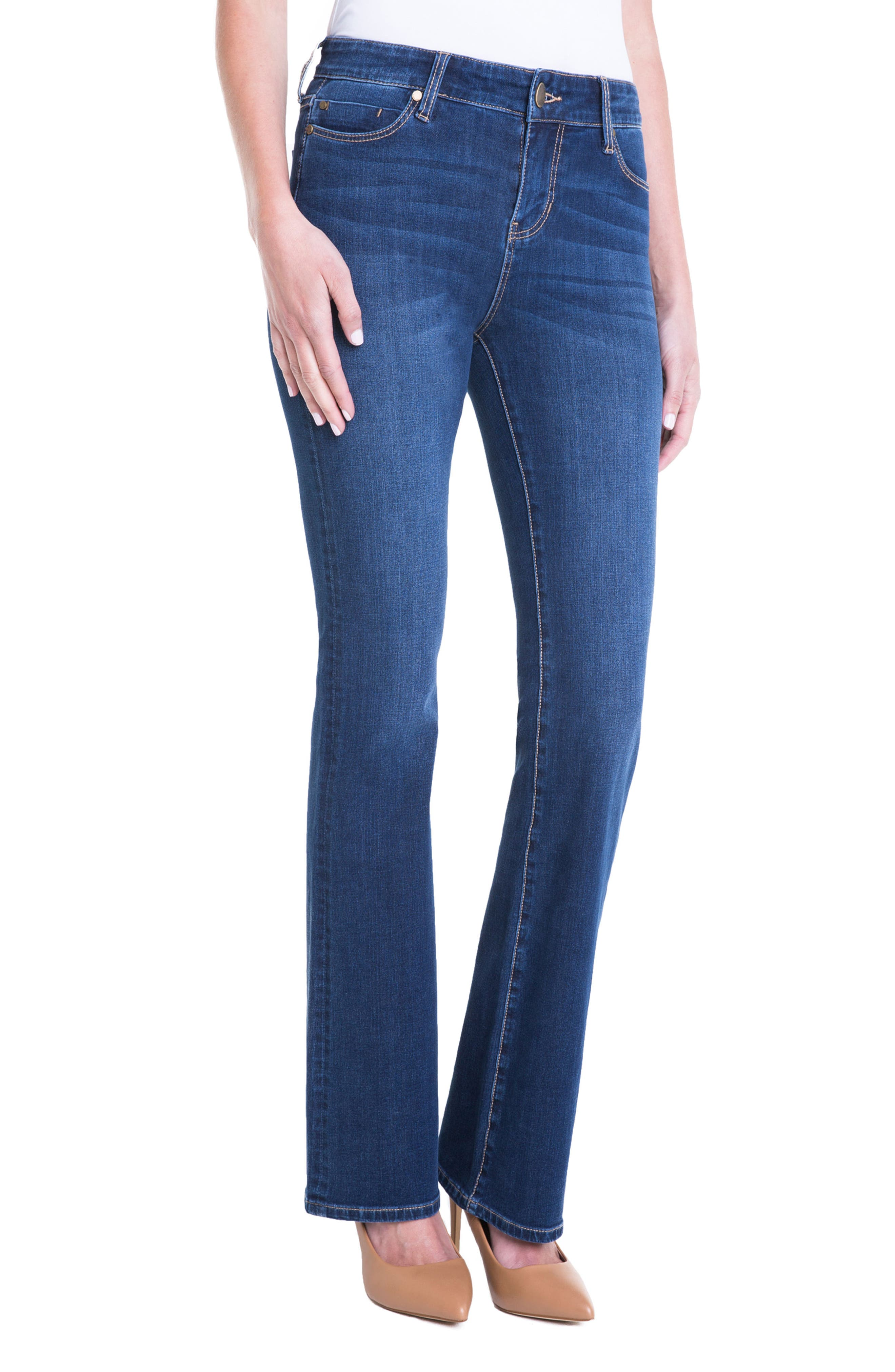 Lucy Stretch Bootcut Jeans,                             Alternate thumbnail 4, color,                             Lynx Wash