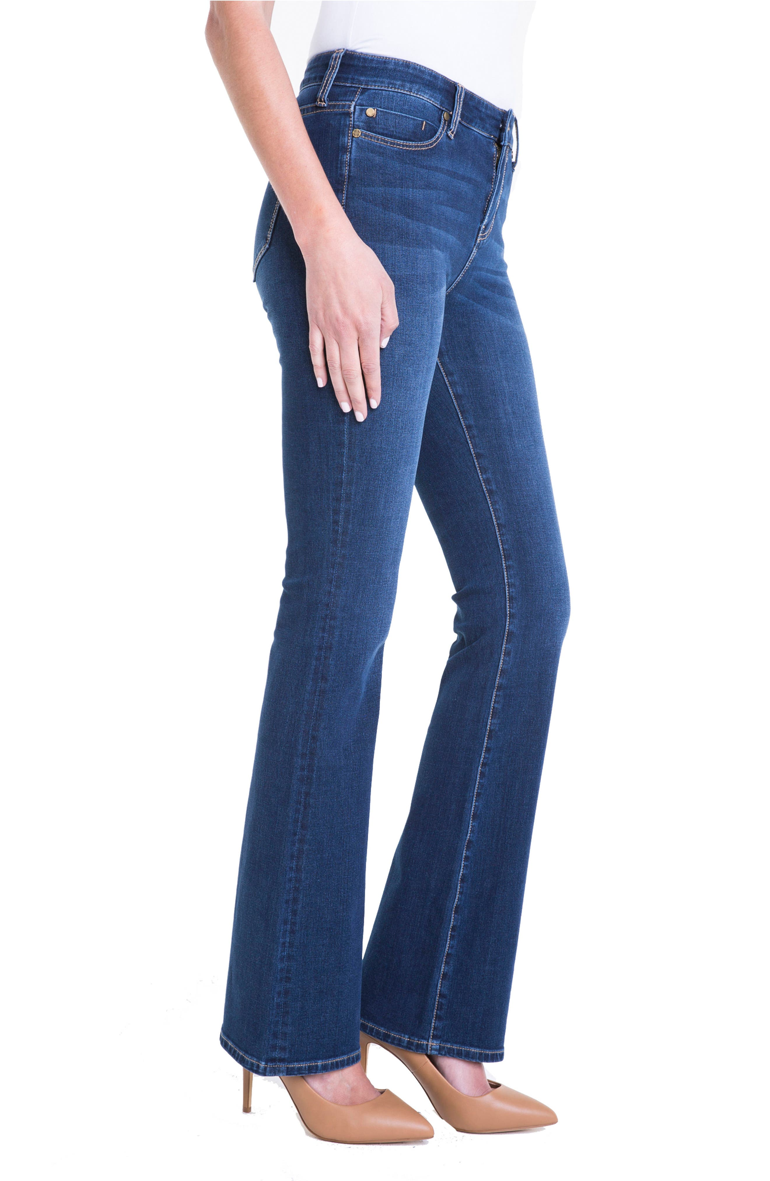 Lucy Stretch Bootcut Jeans,                             Alternate thumbnail 3, color,                             Lynx Wash