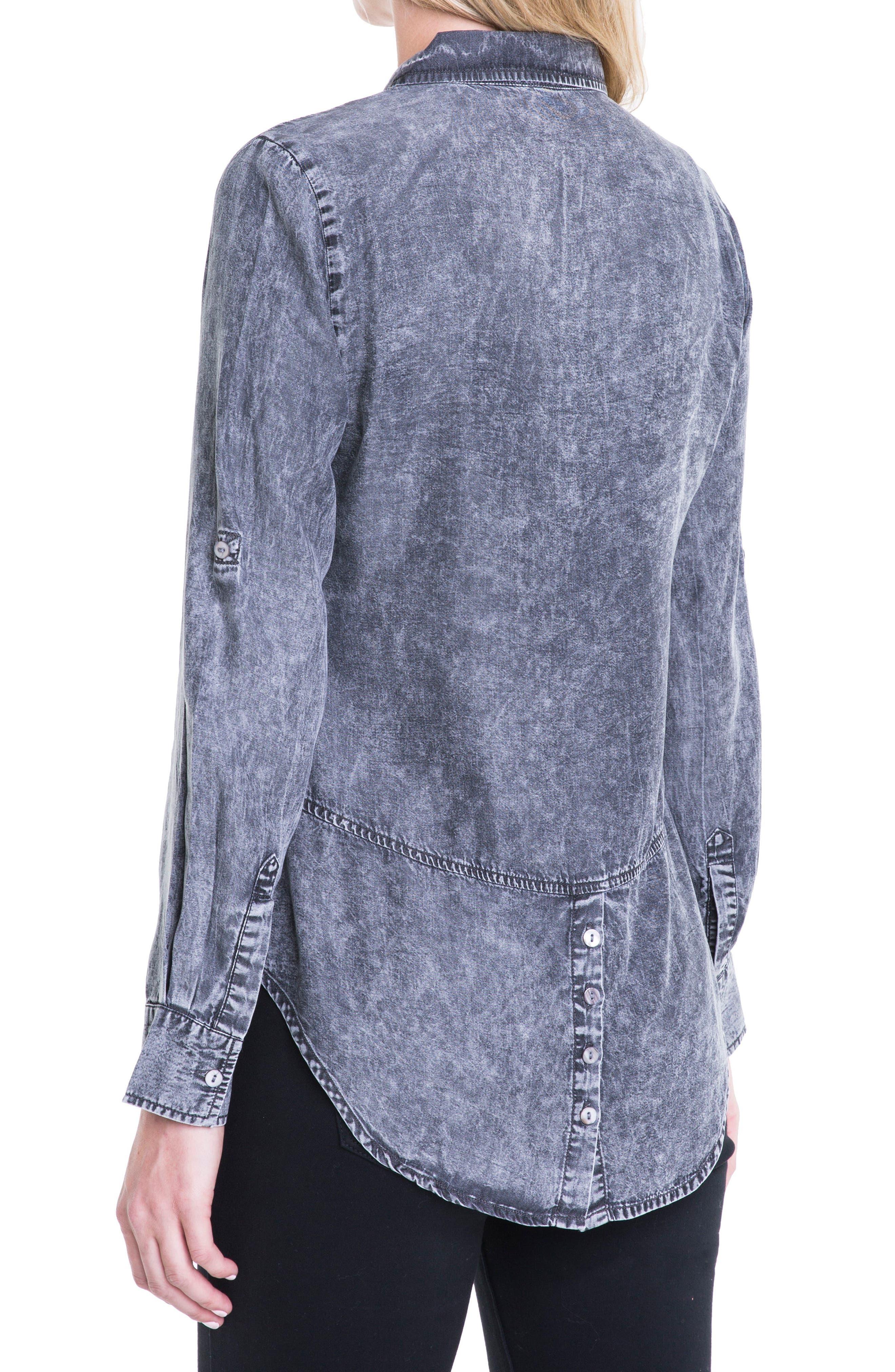 Button Back Chambray Shirt,                             Alternate thumbnail 4, color,                             Carlsbad Acid