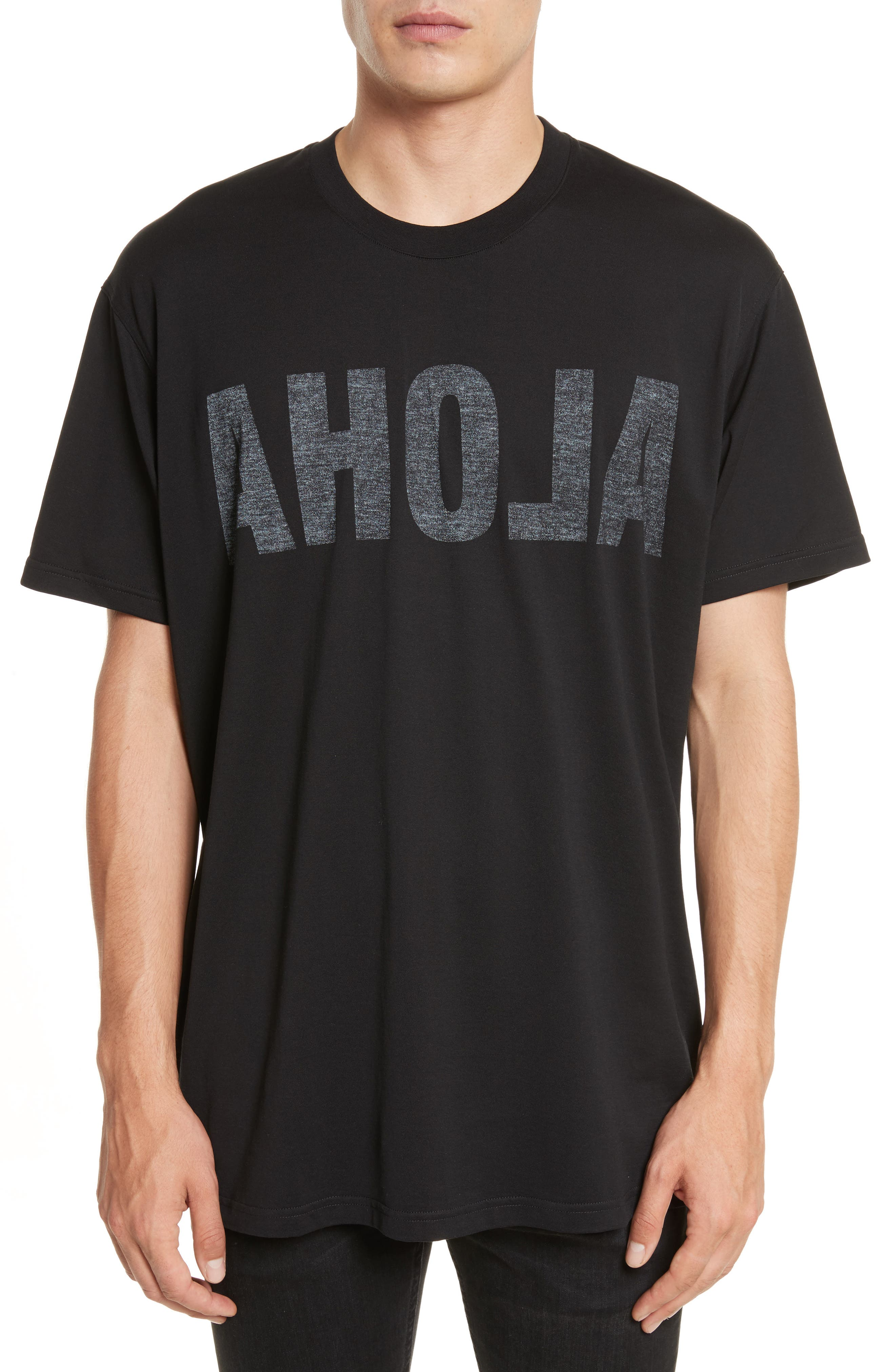 Columbian Fit Aloha Graphic T-Shirt,                         Main,                         color, Black