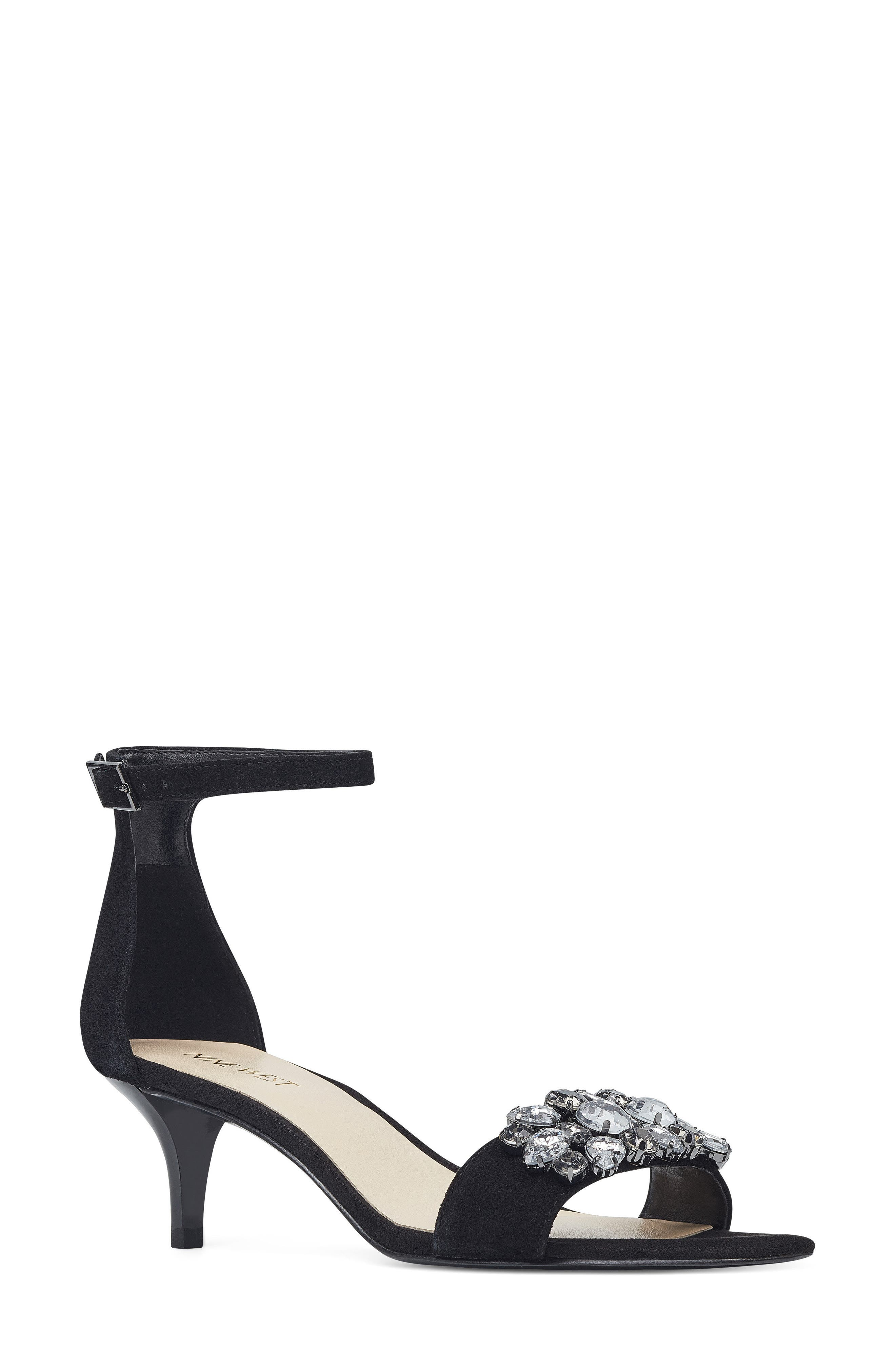 Nine West Lecia Embellished Ankle Strap Sandal (Women)